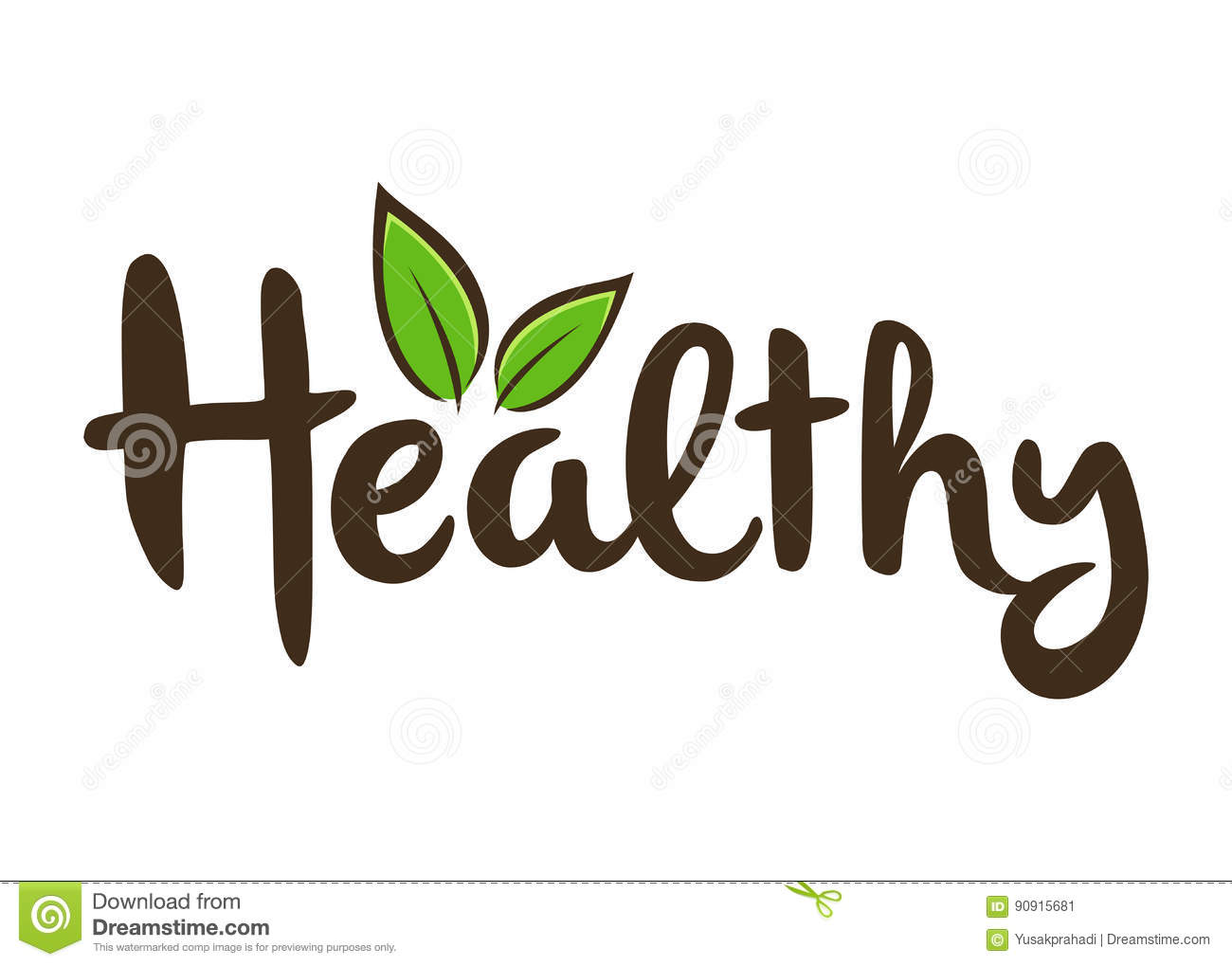 Stock Illustration Healthy Lettering Typography Art Vector Stock Word Custom Image90915681 on Letter U Video Download