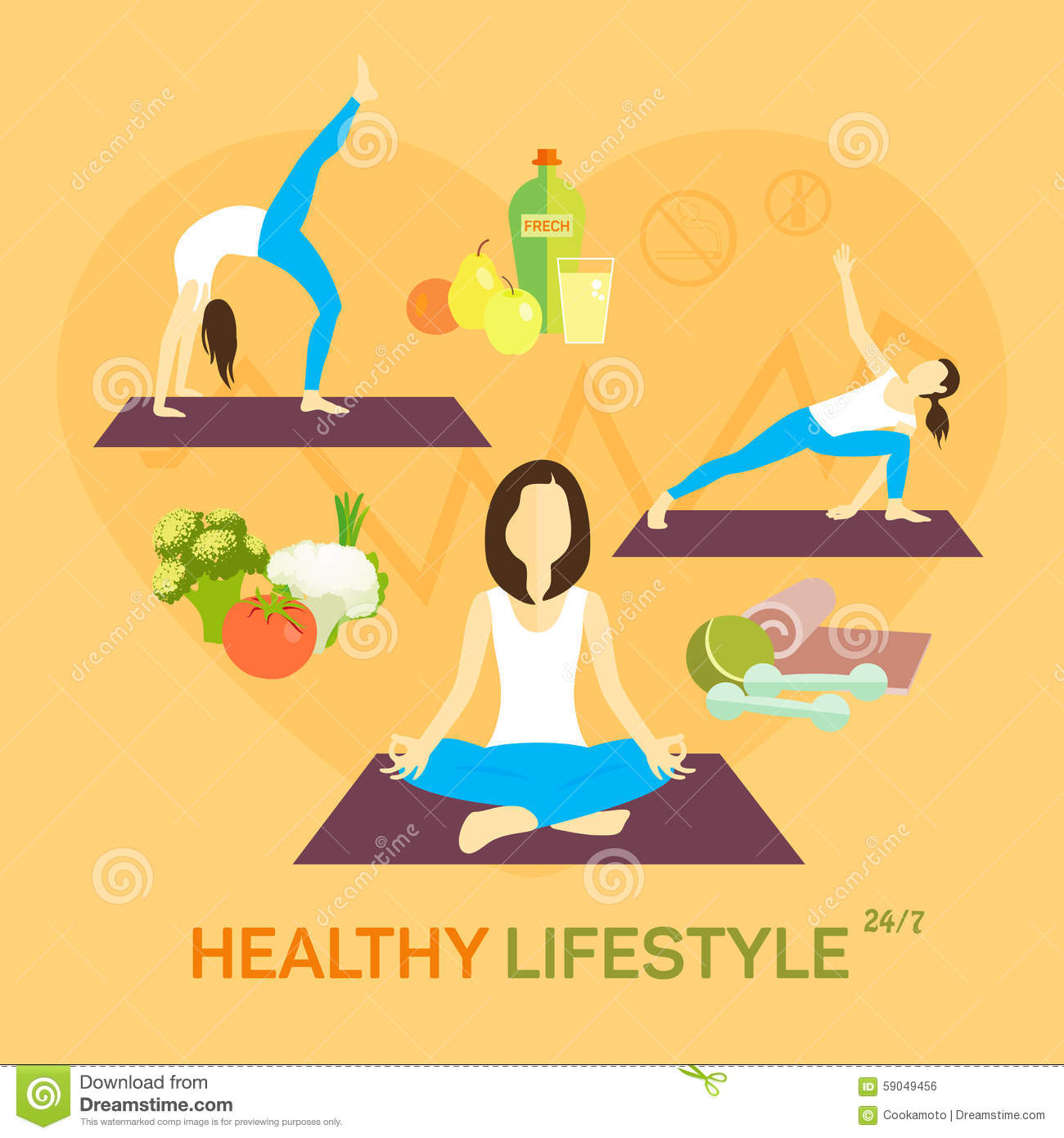 Diet plan for healthy life - Healthy Life Diet Royalty Free Stock Image