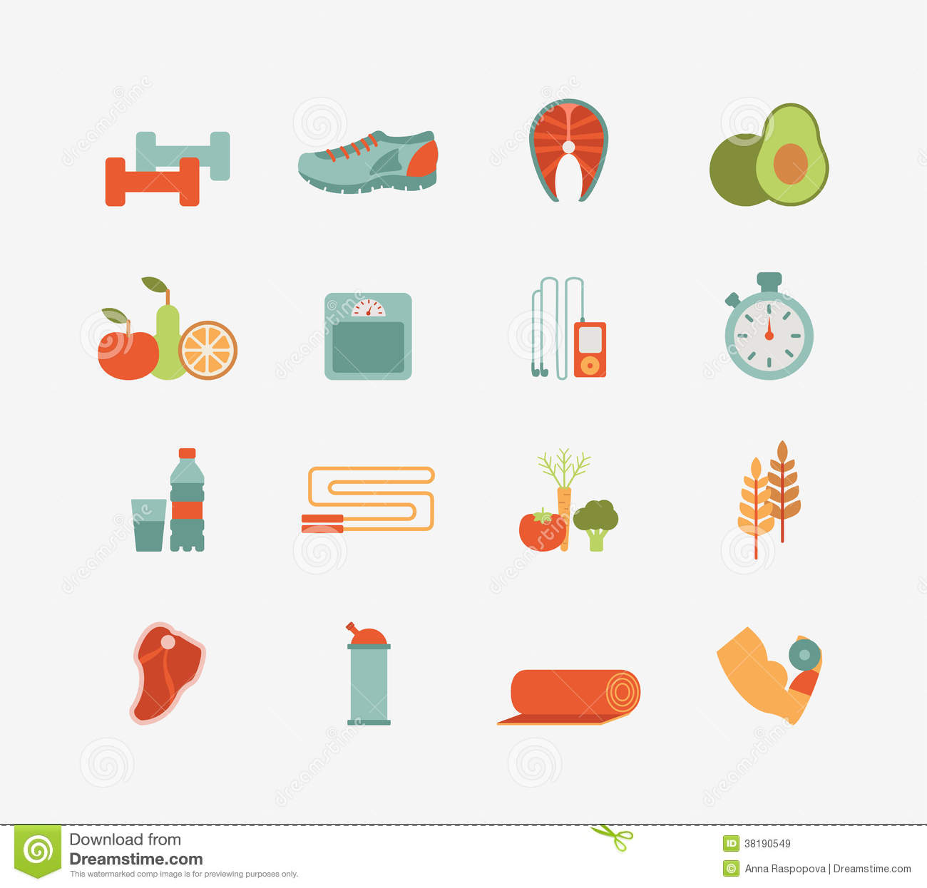 Healthy Life Icons Royalty Free Stock Images - Image: 38190549