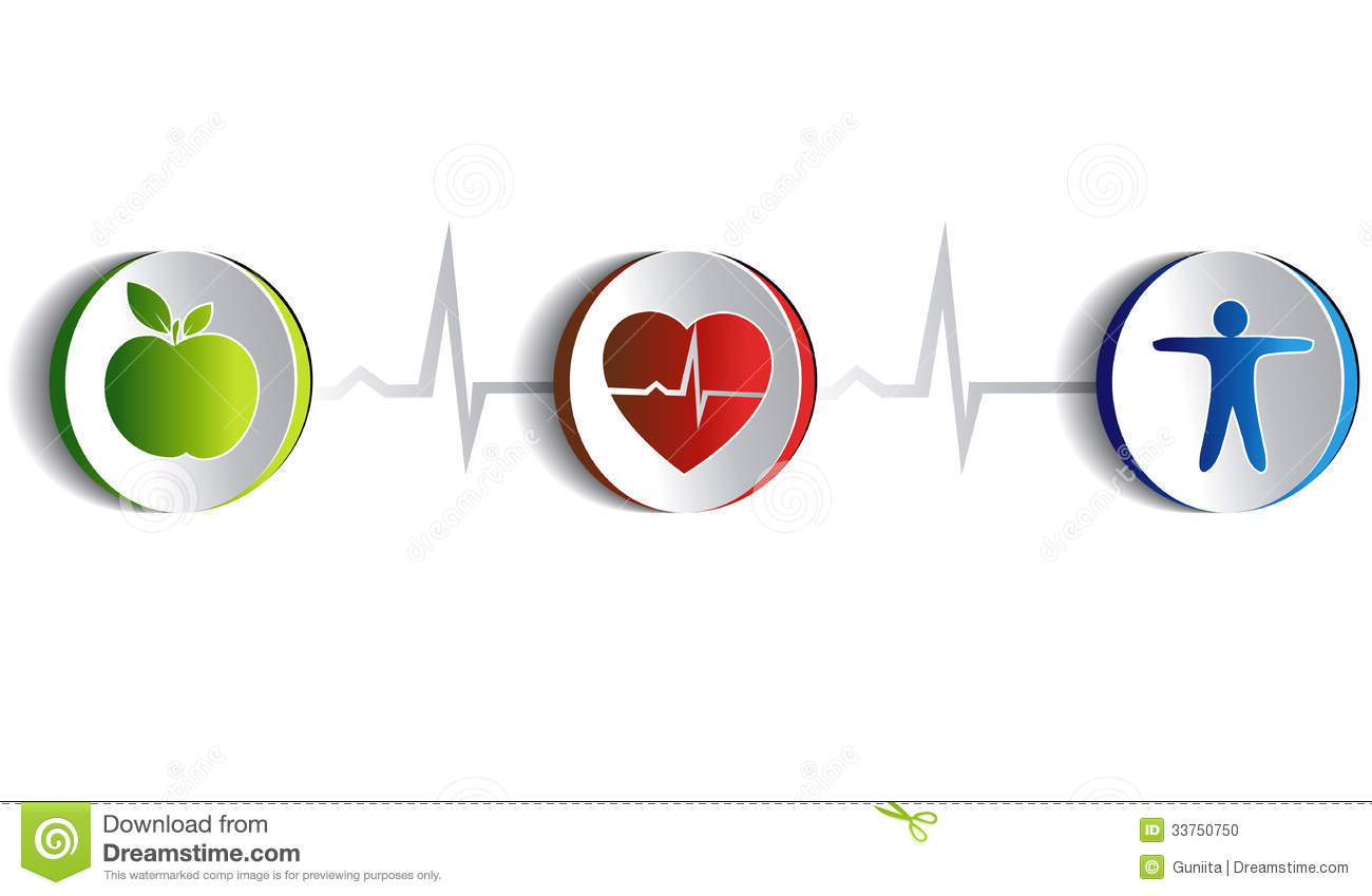 Healthy Lifestyle Artistic Design Stock Vector - Image ...