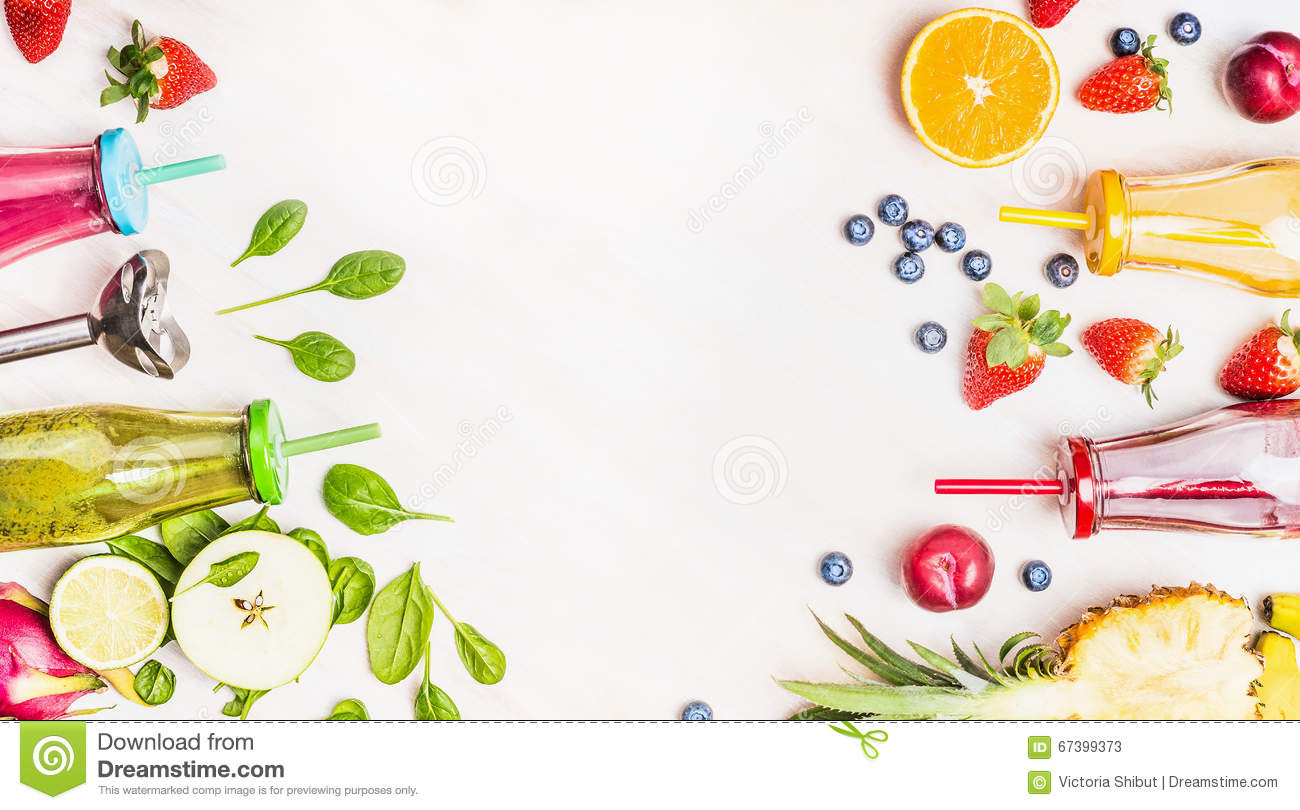 Healthy Lifestyle Background With Various Colorful ...