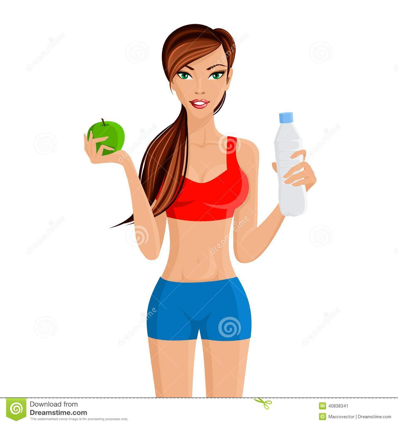 Healthy Lifestyle Fitness Girl Stock Vector