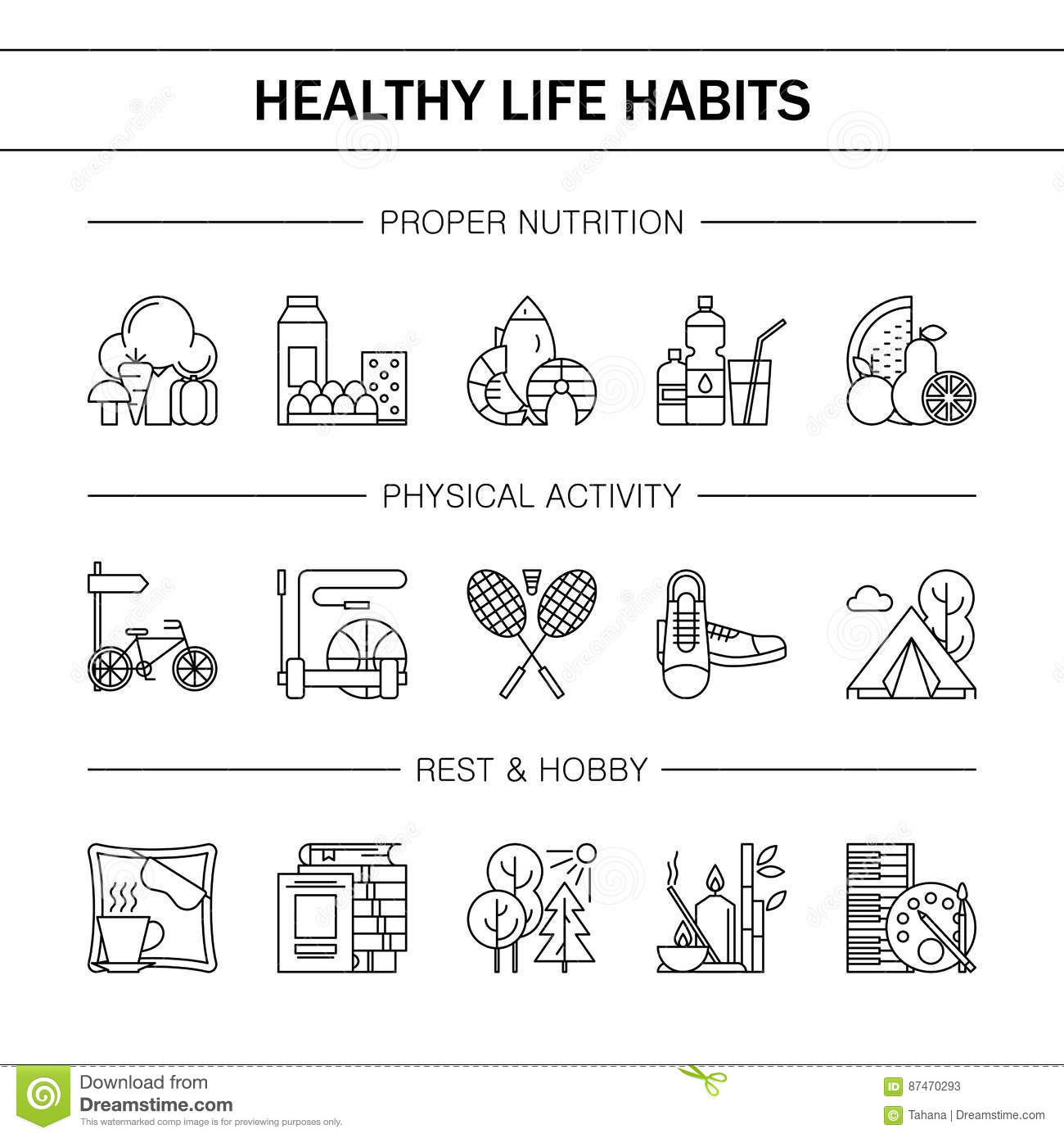 Healthy Lifestyle Clipart Black And White