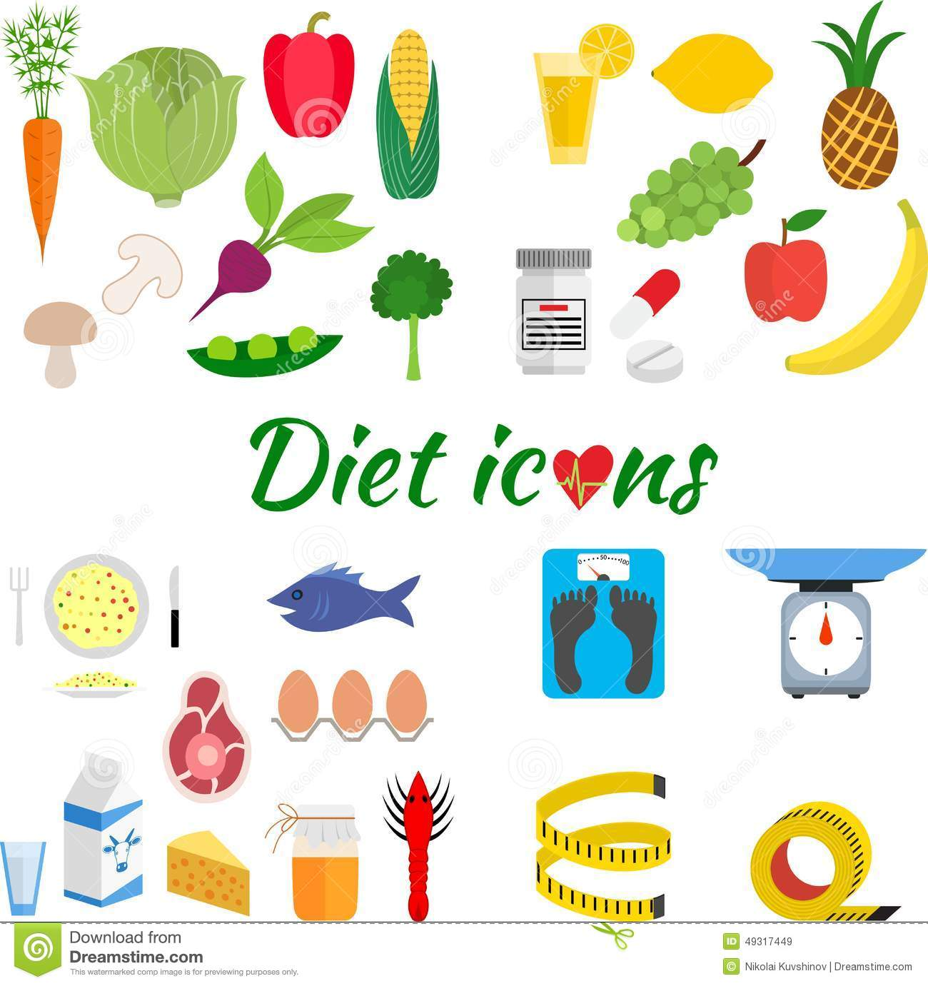 Healthy Lifestyle A Healthy Diet And Daily Stock Vector Image inside The Amazing  healthy diet and lifestyle for your reference