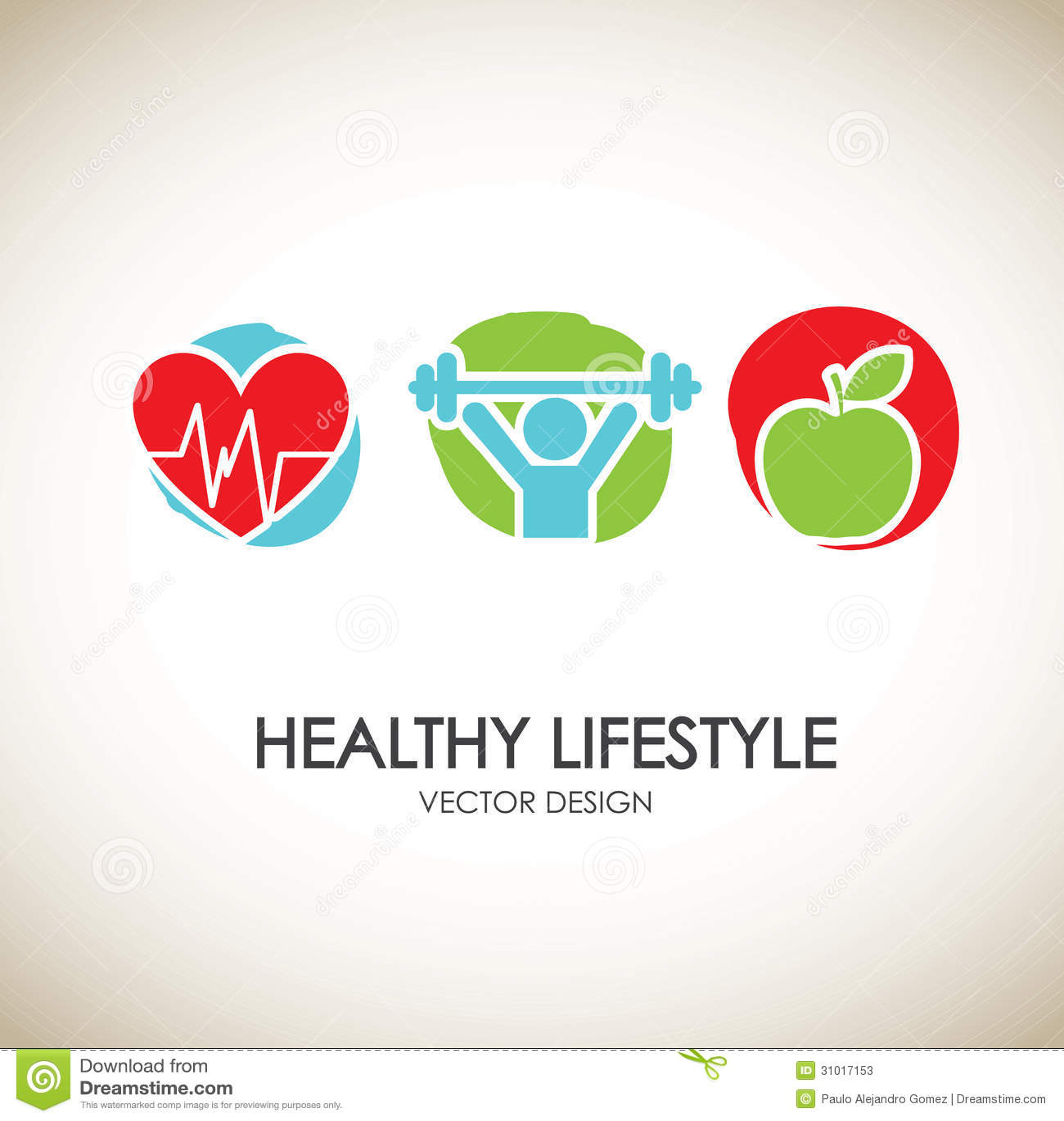 healthy lifestyle icons stock photos image 31017153