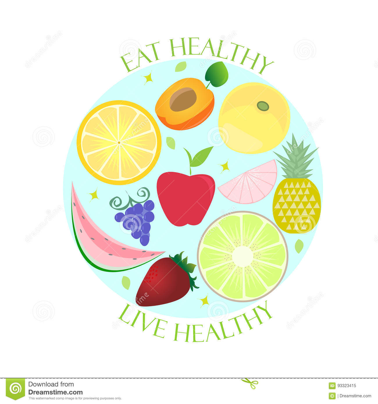 Healthy lifestyle powerpoint template free download wallpaper wheat ppt template source healthy lifestyle poster eat live healthy stock vector toneelgroepblik Image collections