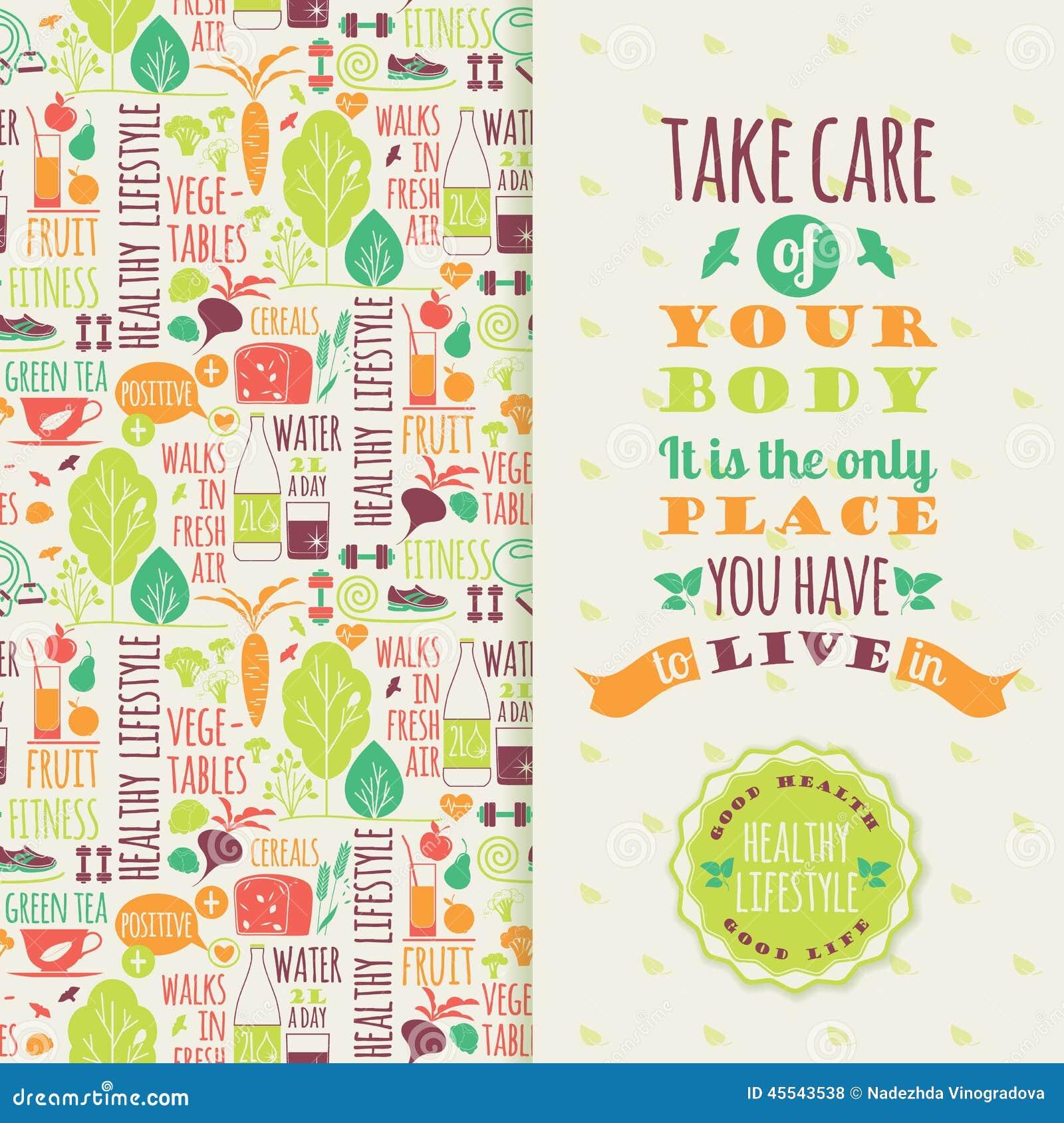 Healthy Lifestyle Vector Illustration 45543538