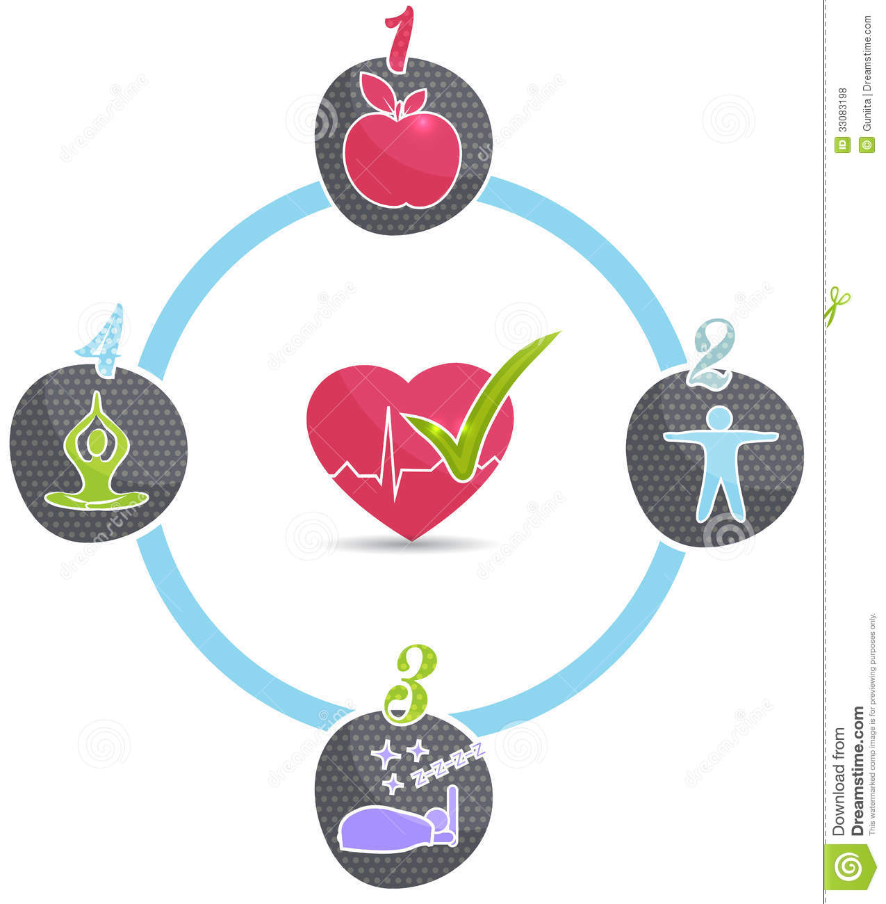Lifestyle: Healthy Lifestyle Wheel Stock Vector. Image Of Healthy