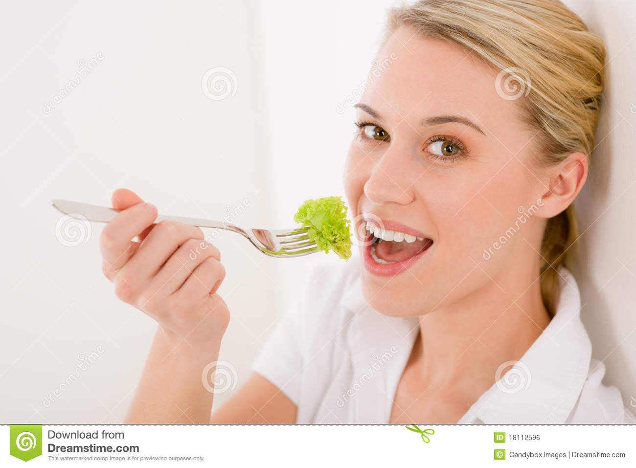 Royalty free stock image healthy lifestyle young woman with lettuce