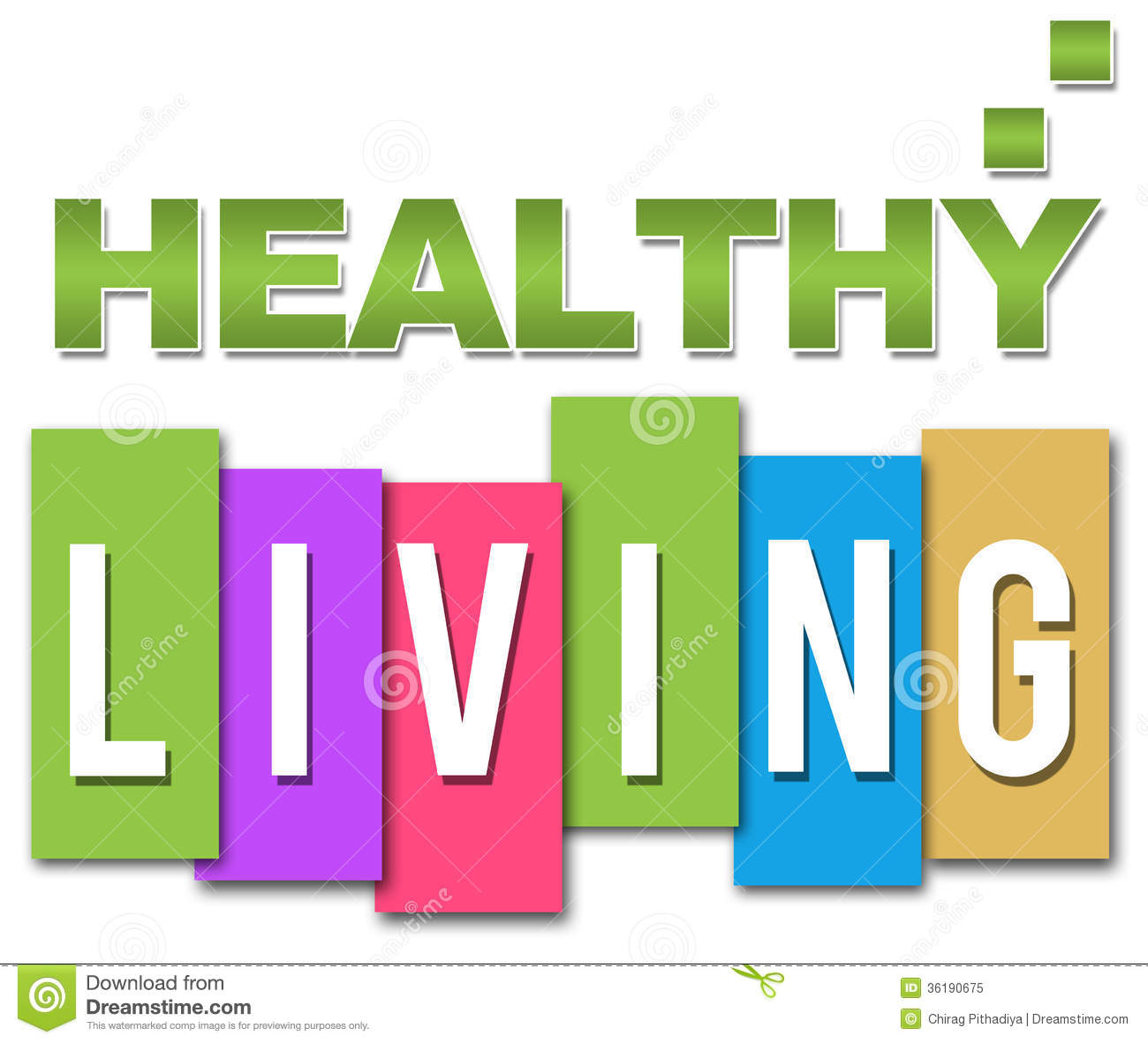 Healthy Living Professional Colourful Royalty Free Stock Photo - Image ...
