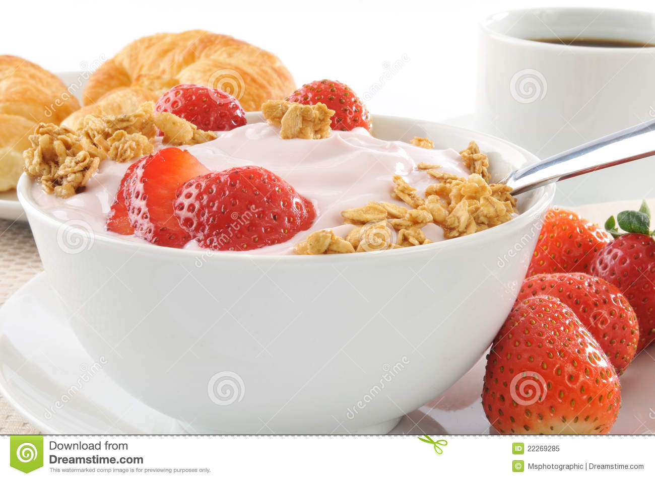 Healthy Low Fat Breakfast Stock Image Image Of Dairy 22269285