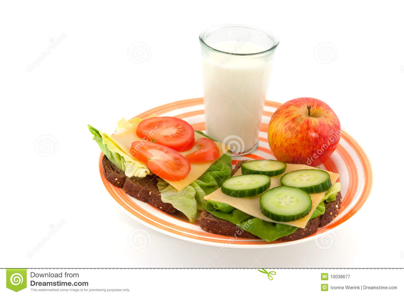Healthy Lunch Royalty Free Stock Photography - Image: 10038677