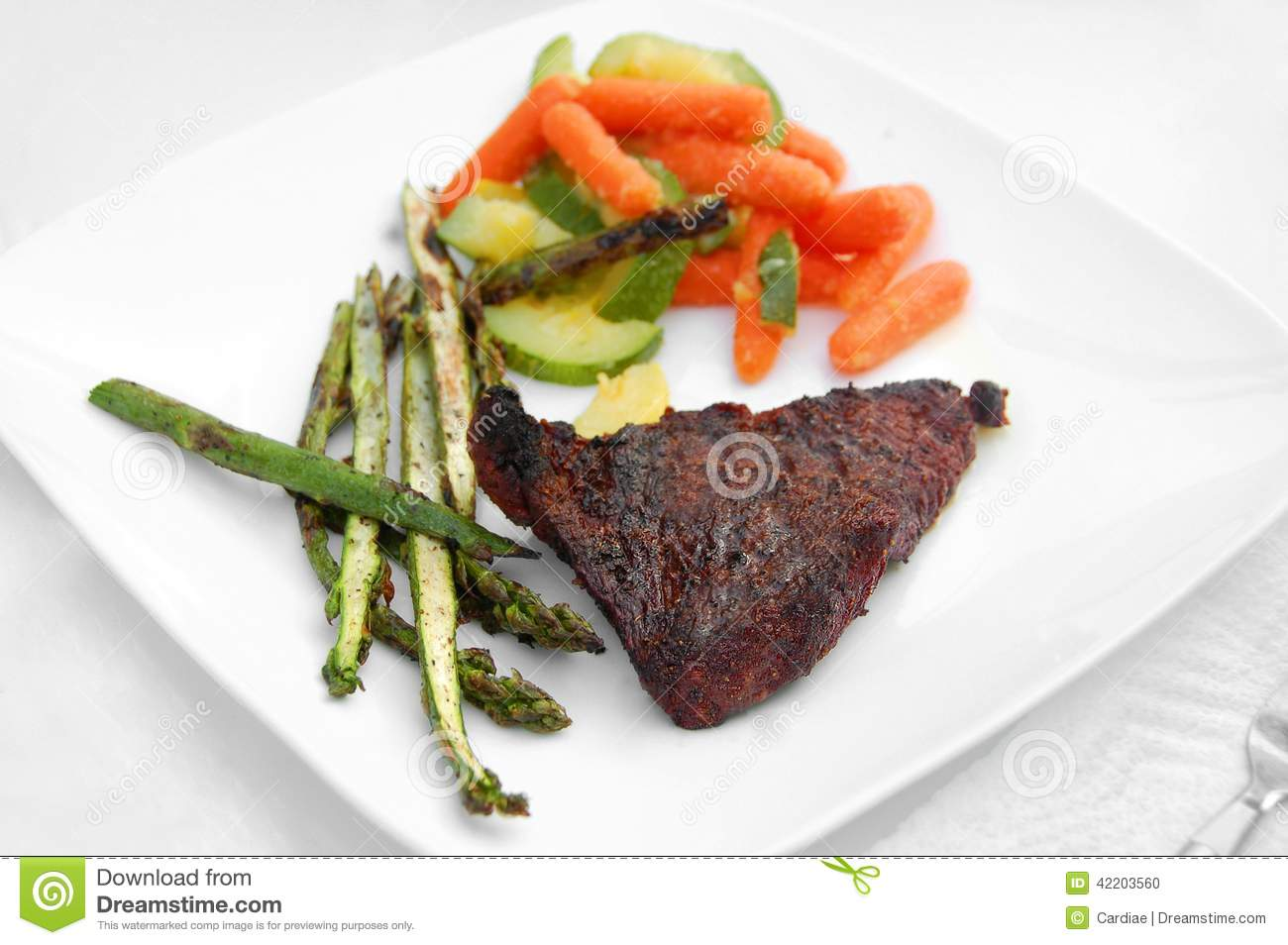 Healthy Meal Barbecue Grill Cookout Meat Steak Vegetables