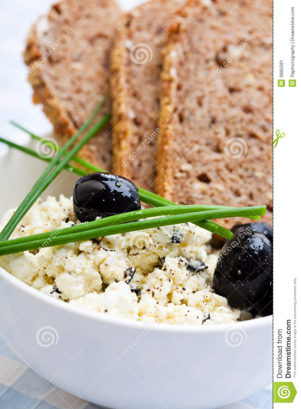 Healthy meal of feta cheese bread and olives stock image 9865591 - Healthy greek recipes for dinner mediterranean savour ...