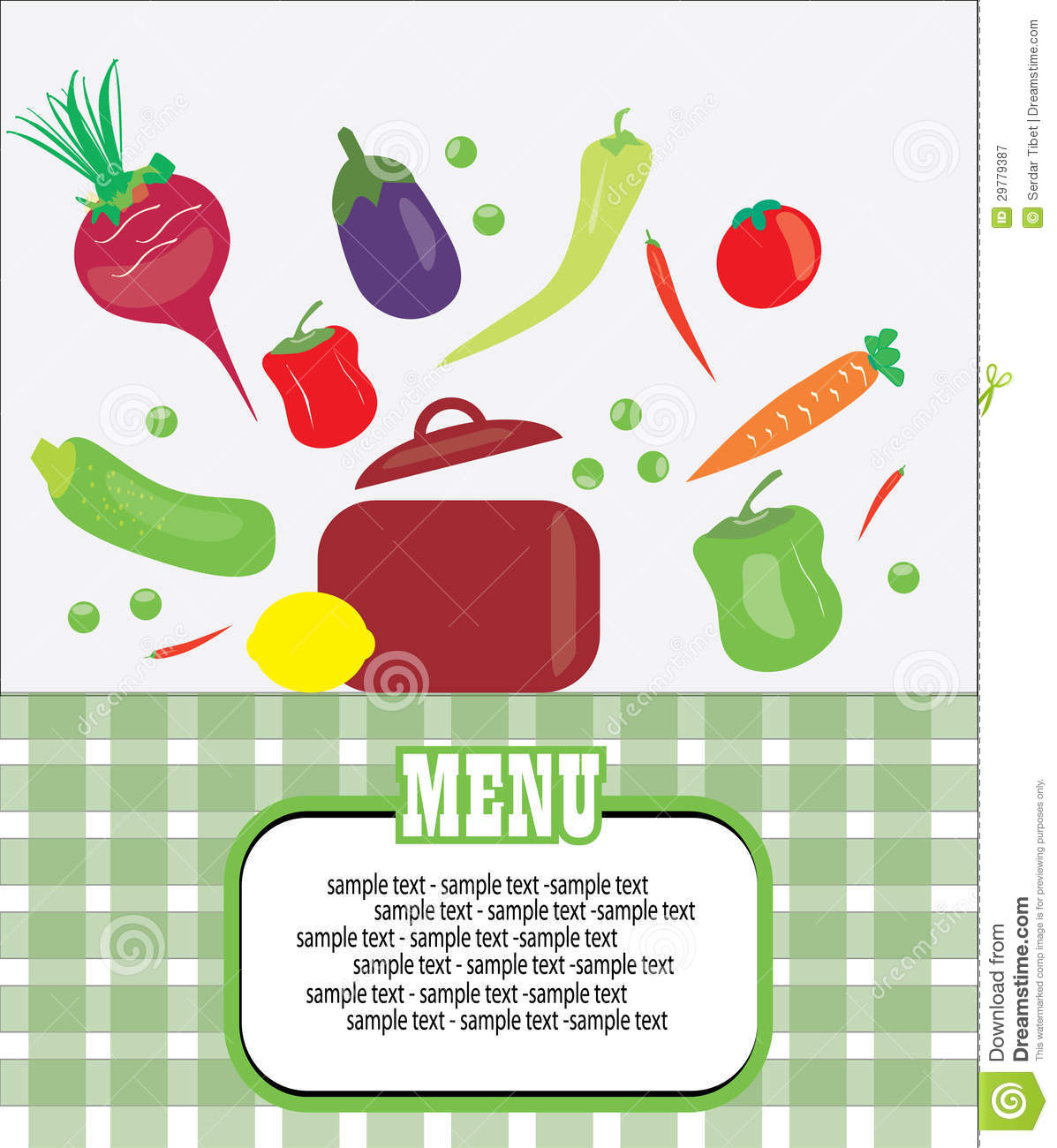 Healthy Menu Card Royalty Free Stock Photography - Image: 29779387