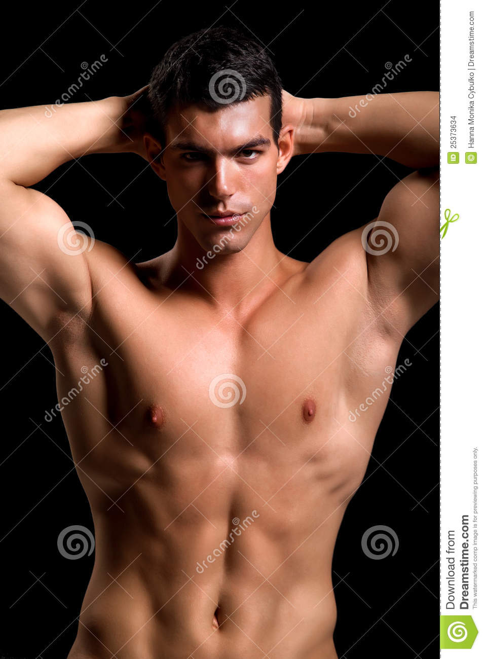 Healthy Muscular Young Man Stock Photo Image Of Beautiful - 25373634-2617
