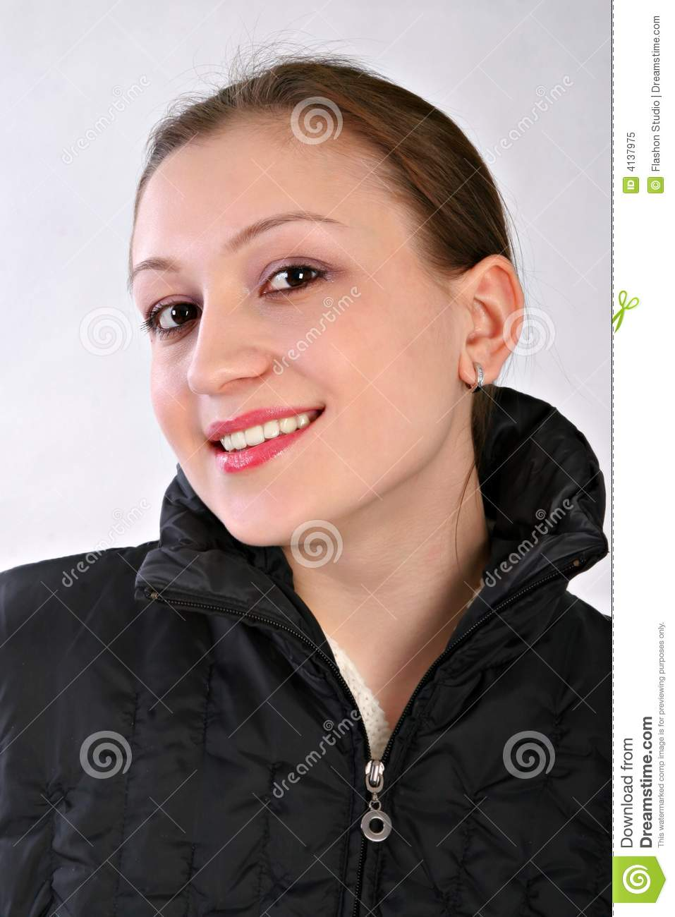 Healthy Natual Looking 19 Year Old Girl Portrait Stock