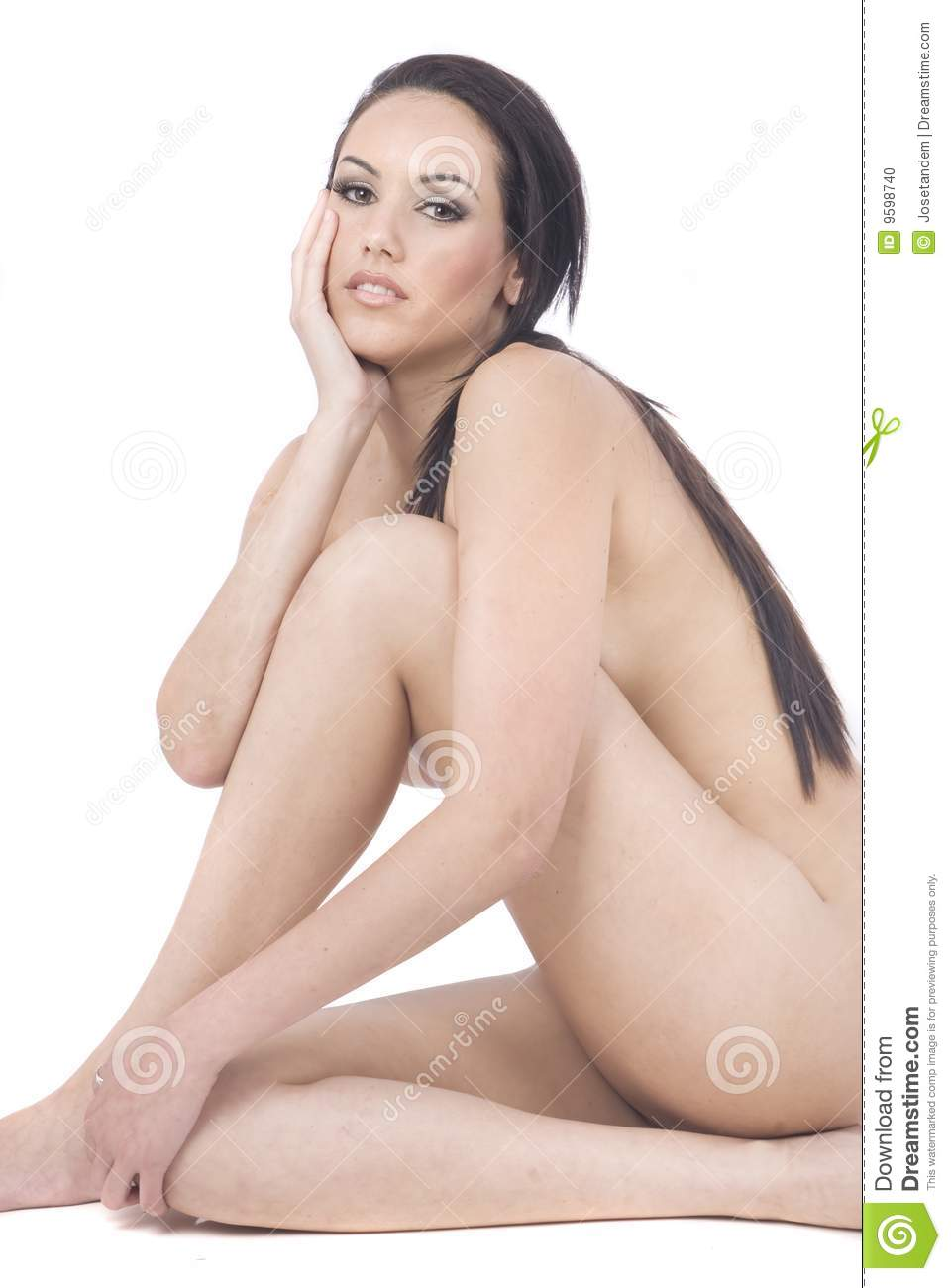 Healthy Nude Woman Over White Stock Photo - Image 9598740-1371