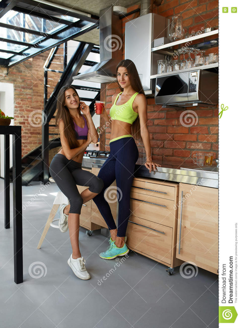 download healthy nutrition fitness women in sportswear drinking smoothie stock photo image of cleansing
