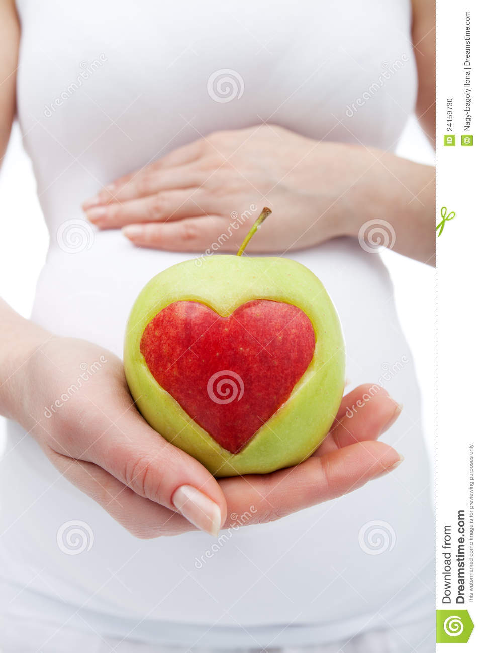 Healthy Nutrition During Pregnancy Stock Photo