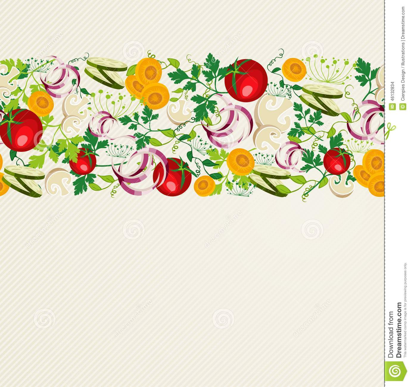 Healthy Organic Food Pattern Stock Vector Image 46132834