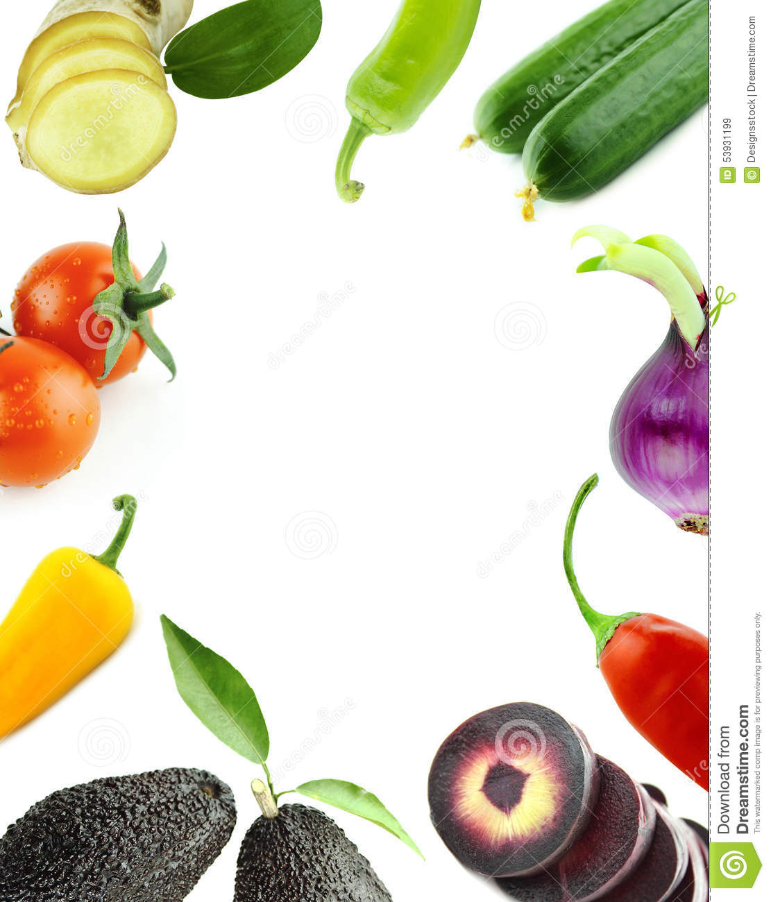 Photo Designer To Add Artist: Healthy Organic Vegetables And Fruits Stock Photo