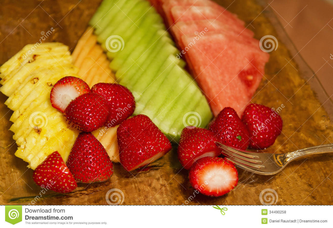 Healthy Party Fruit Buffet Royalty Free Stock Photos