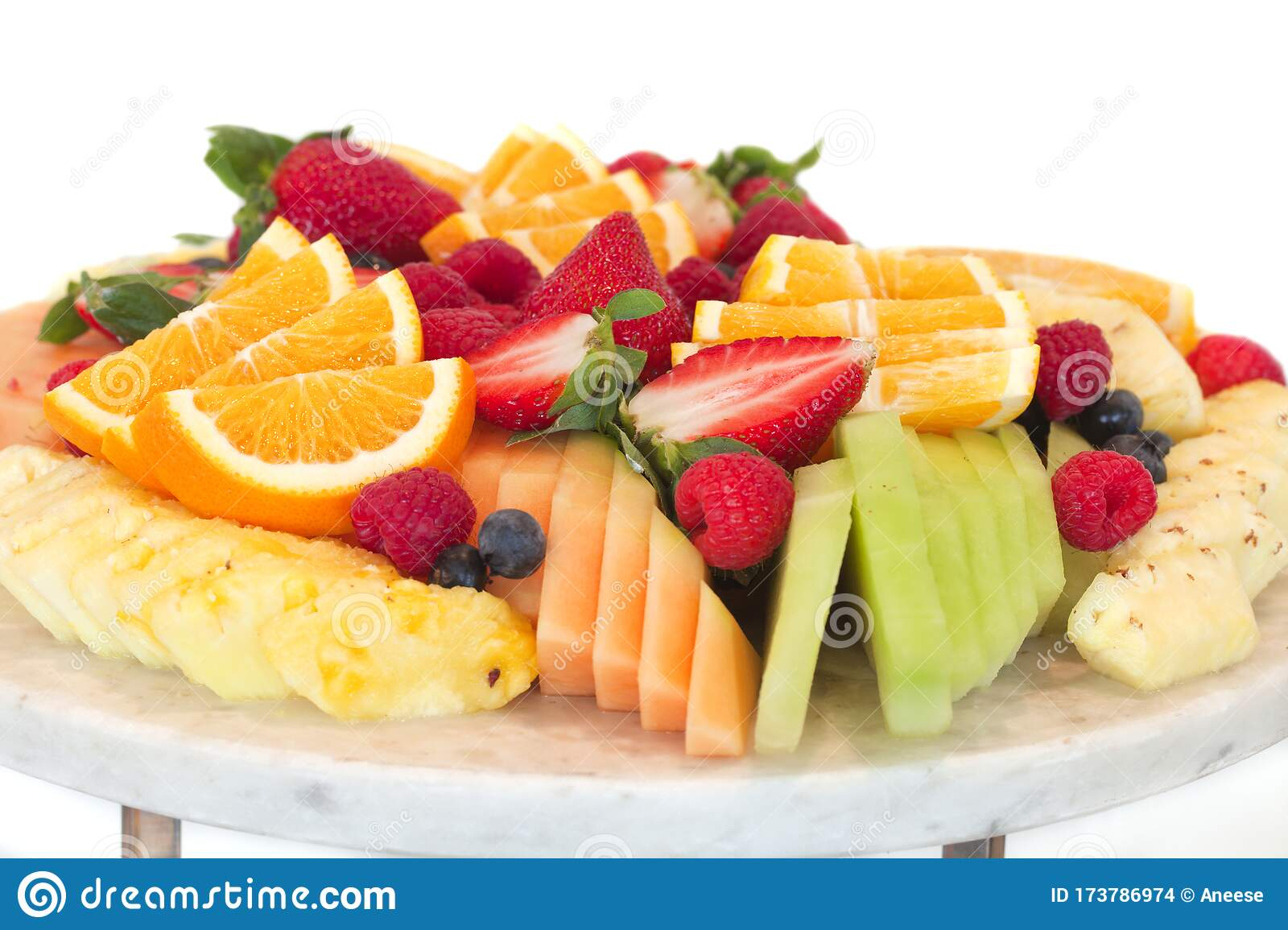 Healthy Platter Of Different Sliced Fruits Stock Photo Image Of Appetizers Healthy 173786974