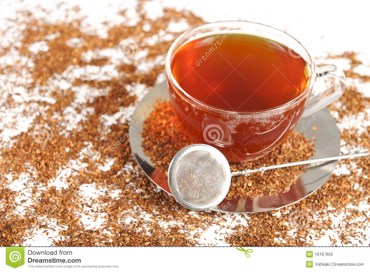 Healthy Red Bush Tea From South Africa Stock Photo Image