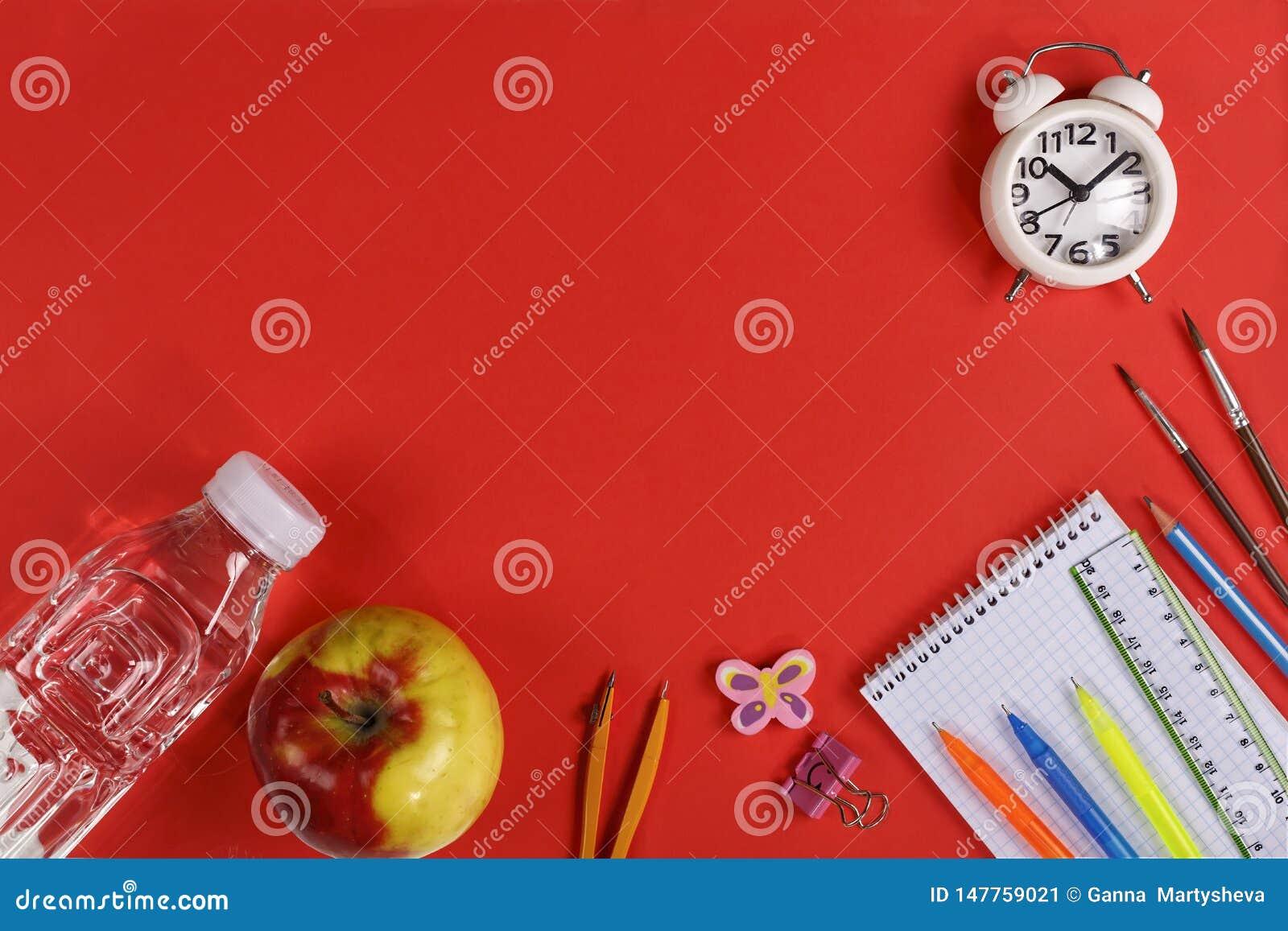 Healthy, school food, ciabatta, nutrition, pure water, a sandwich, an apple