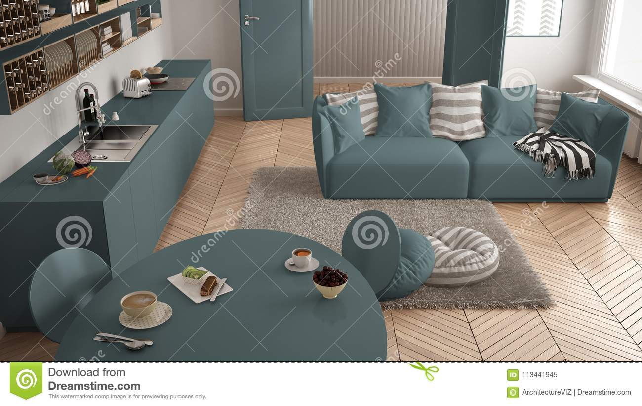 Superb Healthy Sweet Breakfast In Modern Scandinavian Kitchen Ocoug Best Dining Table And Chair Ideas Images Ocougorg