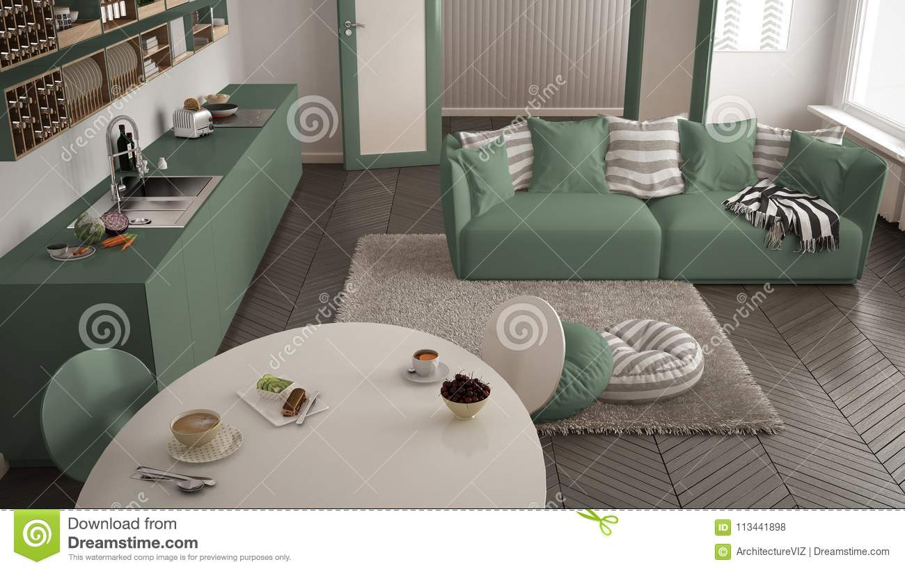 Marvelous Healthy Sweet Breakfast In Modern Scandinavian Kitchen Ocoug Best Dining Table And Chair Ideas Images Ocougorg
