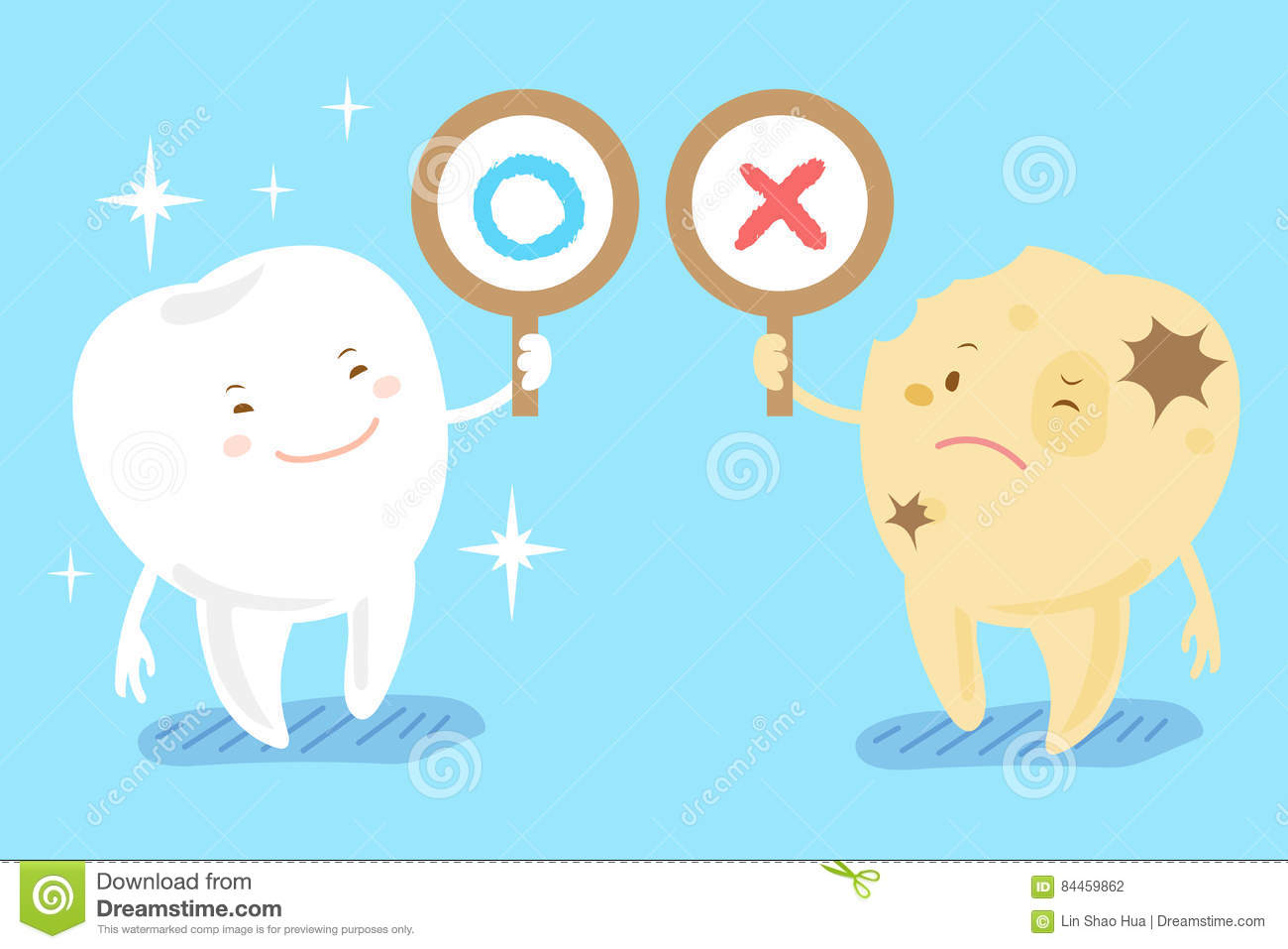 Cute Toothbrush Drawing Healthy Clean Teeth To...