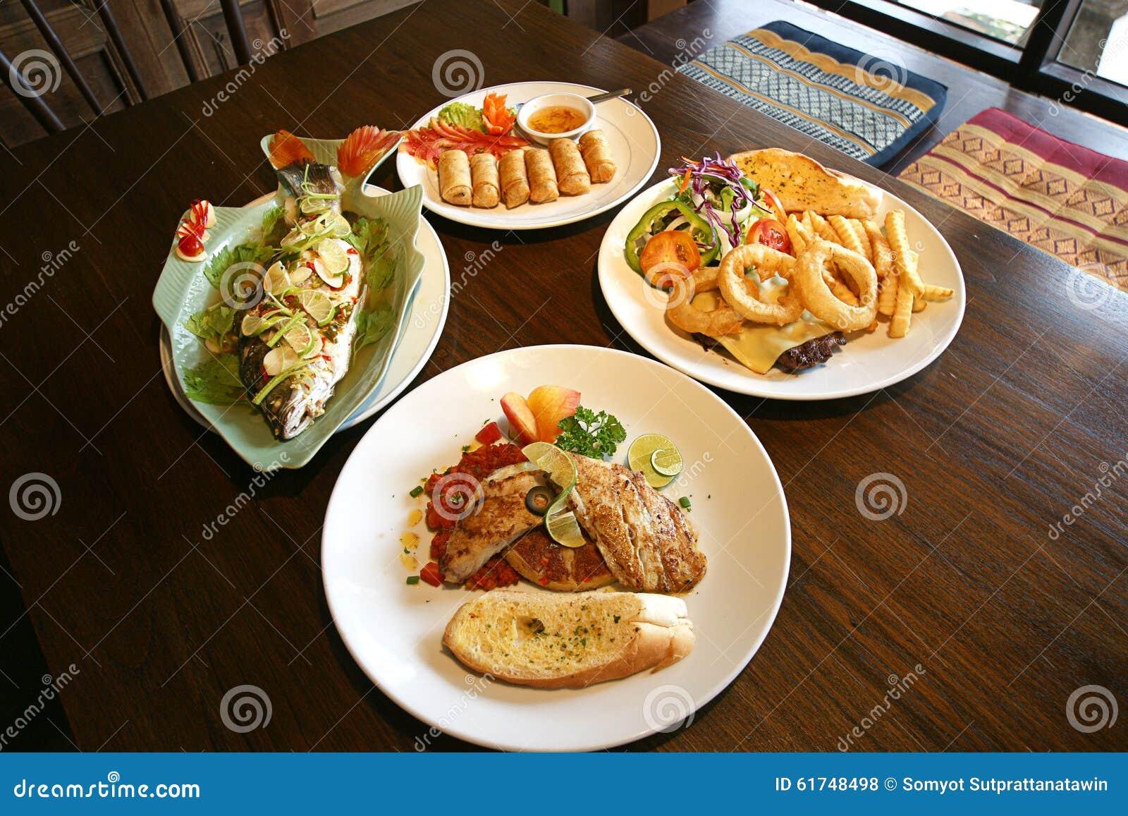Healthy thai food set