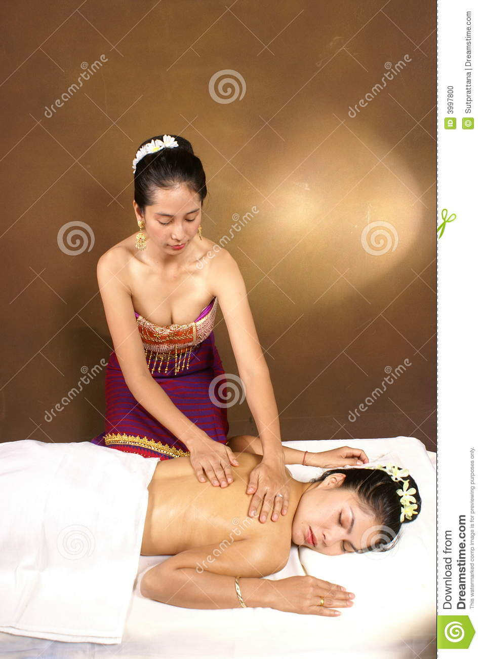 healthy thai oil massage stock photo. image of retreat - 3997800