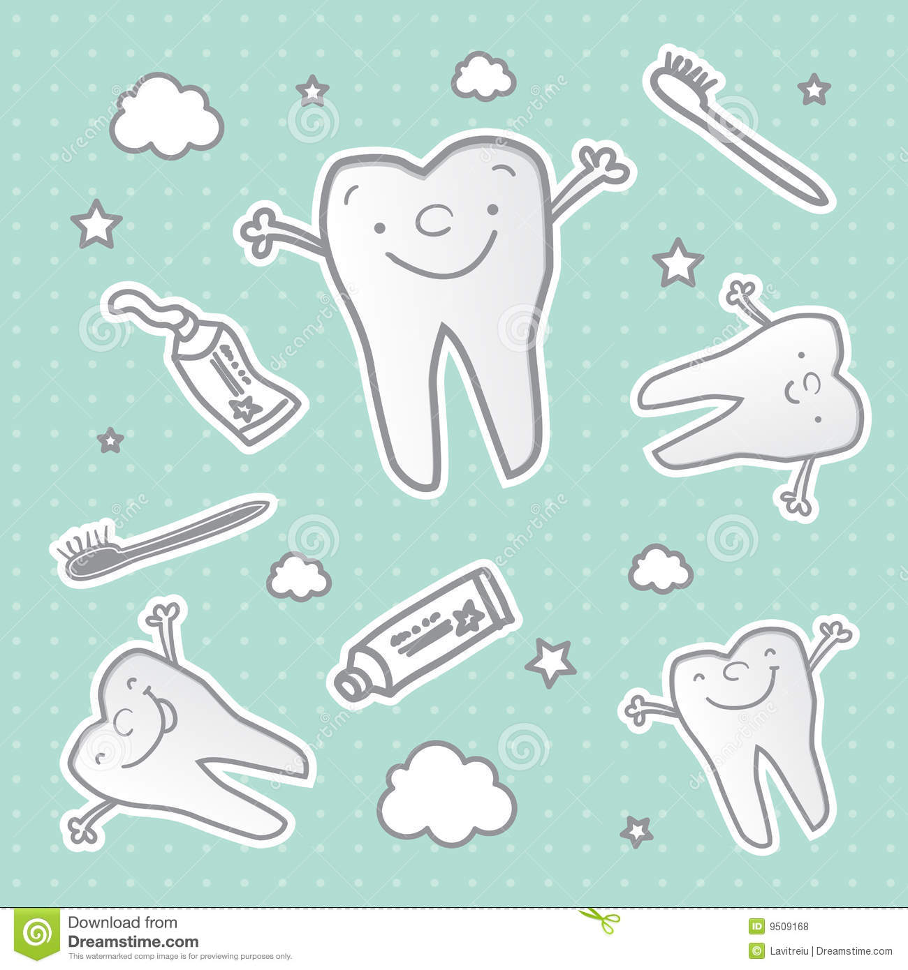 Healthy Tooth Cartoon Wallpaper Royalty Free Stock Photos ...