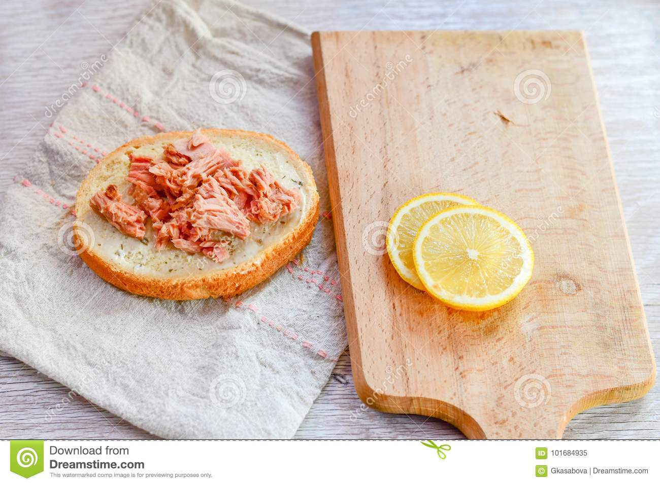 Tuna and egg sandwich stock image image of boiled for Tuna and egg sandwich