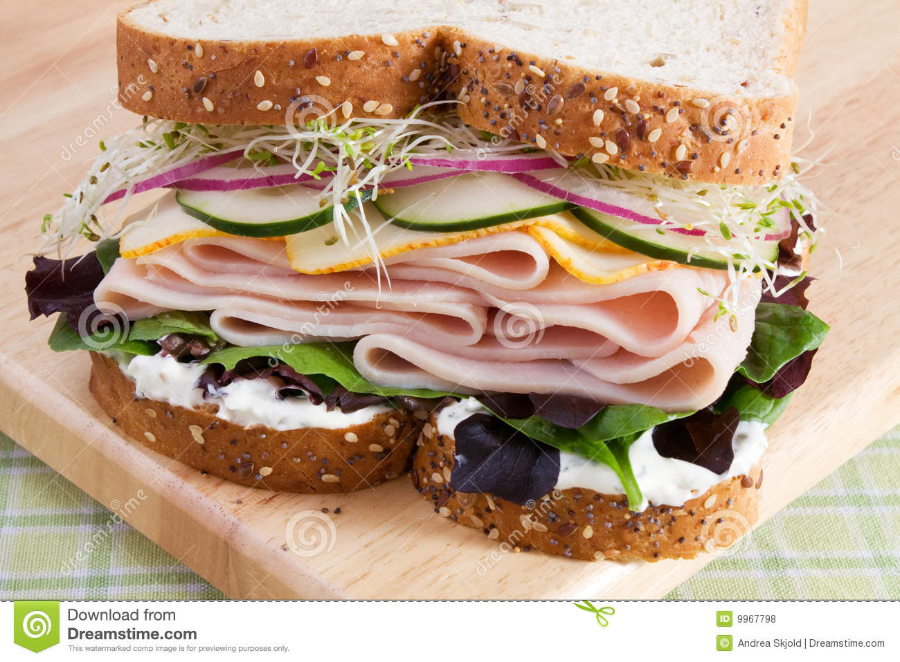 Royalty Free Stock Photos  Healthy Turkey SandwichHealthy Turkey Sandwich
