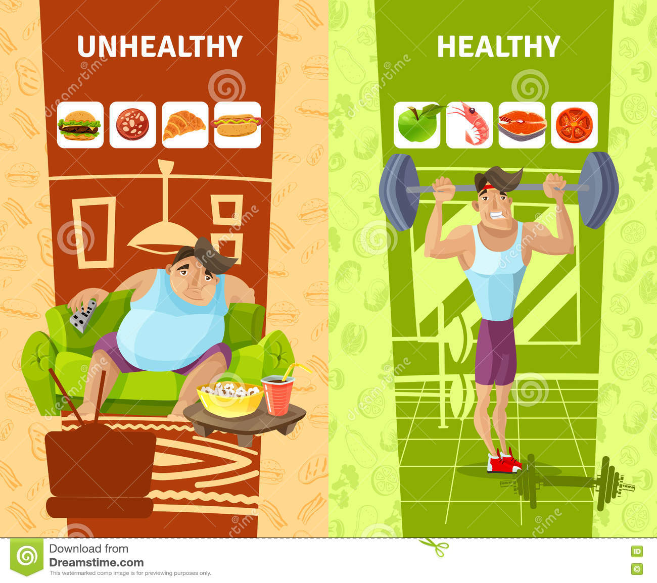 Healthy and unhealthy people