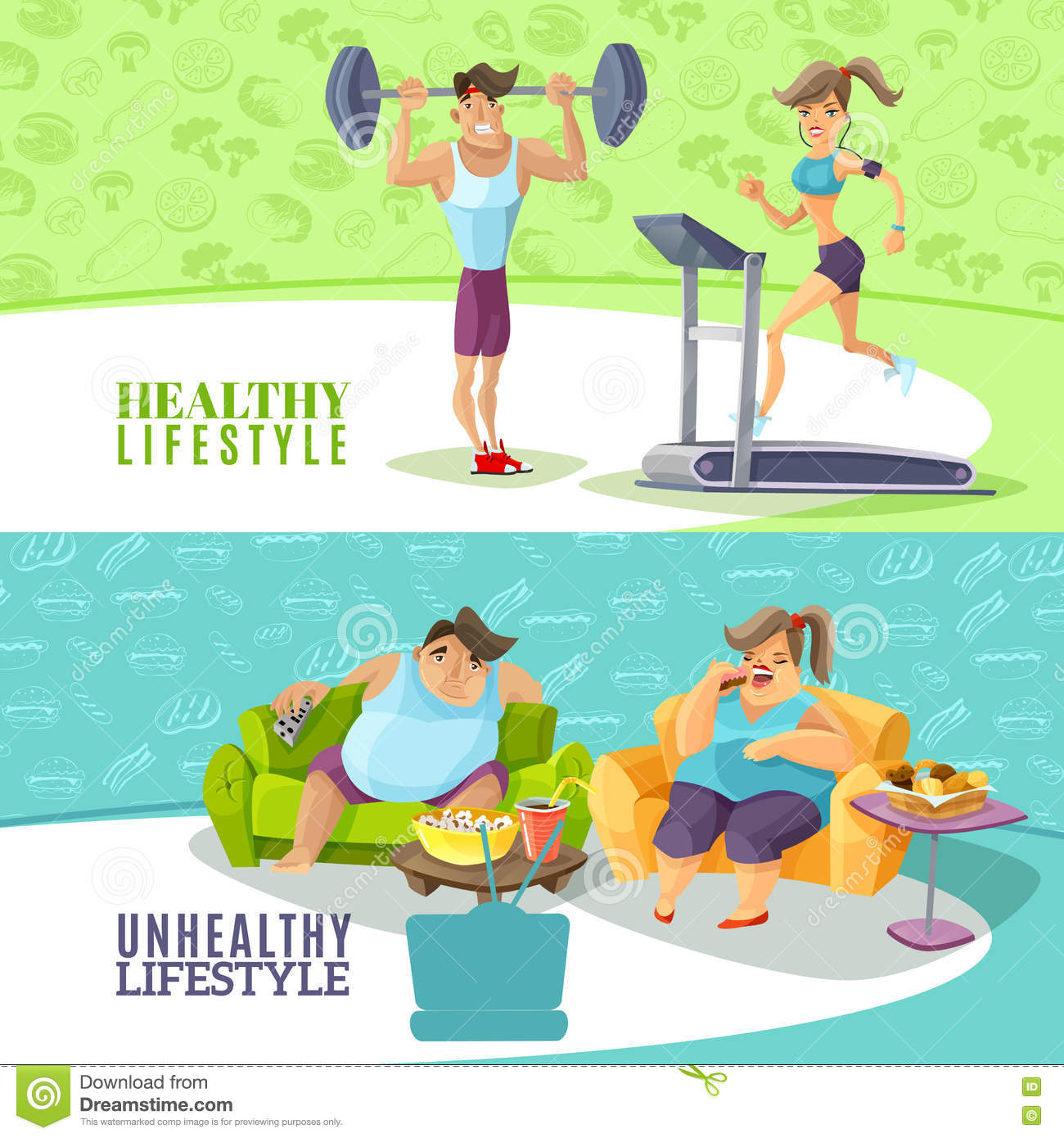 healthy and unhealthy lifestyles