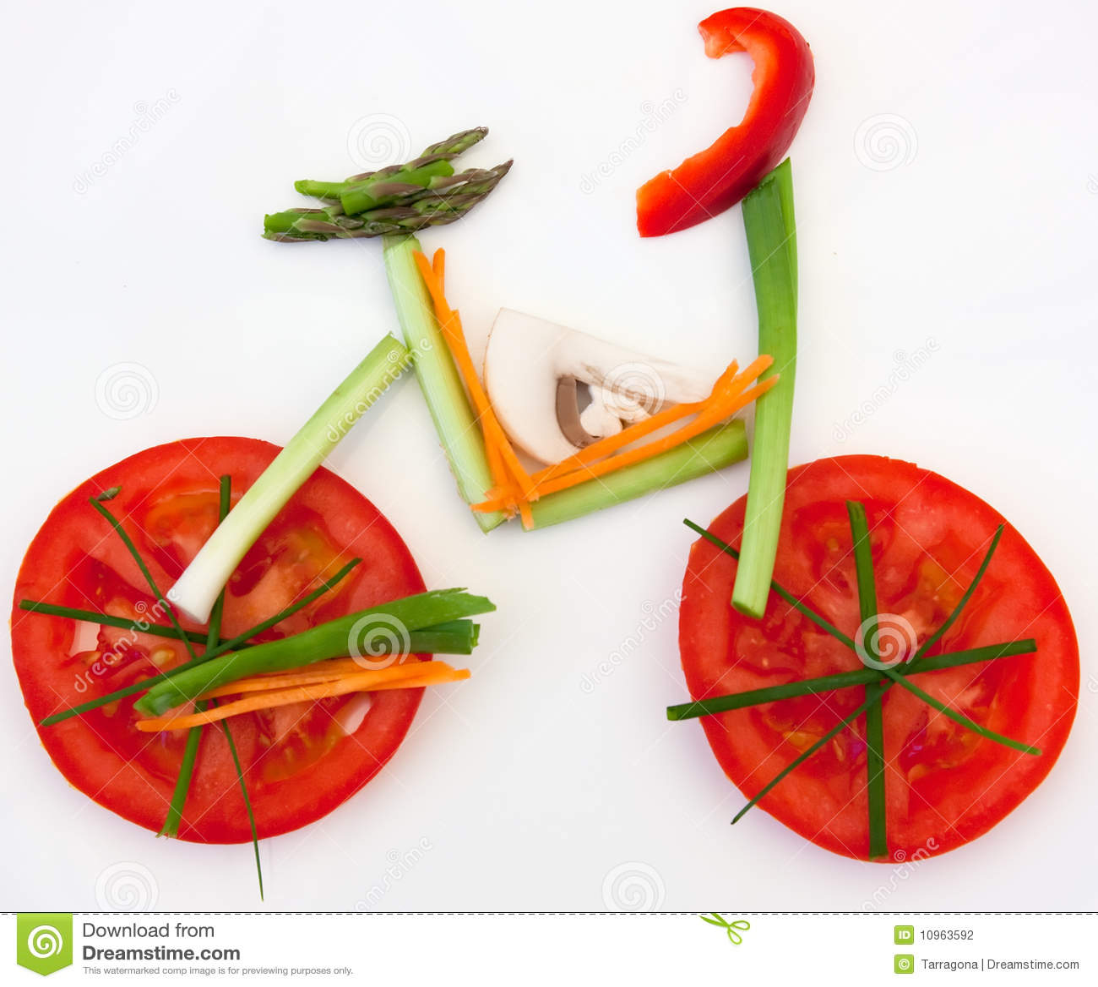Healthy vegetable bicycle food