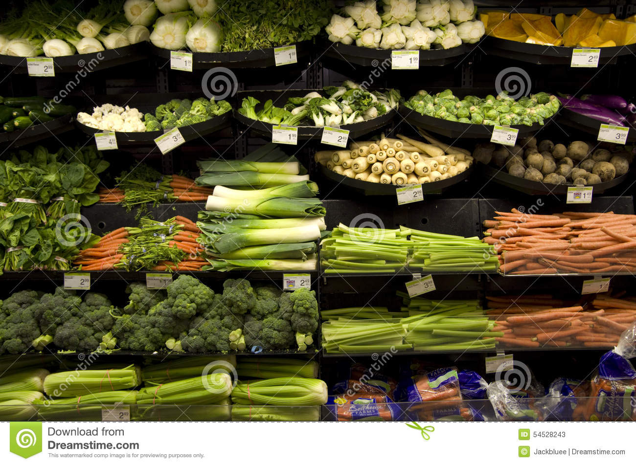 Healthy Vegetables Grocery Store Editorial Stock Photo