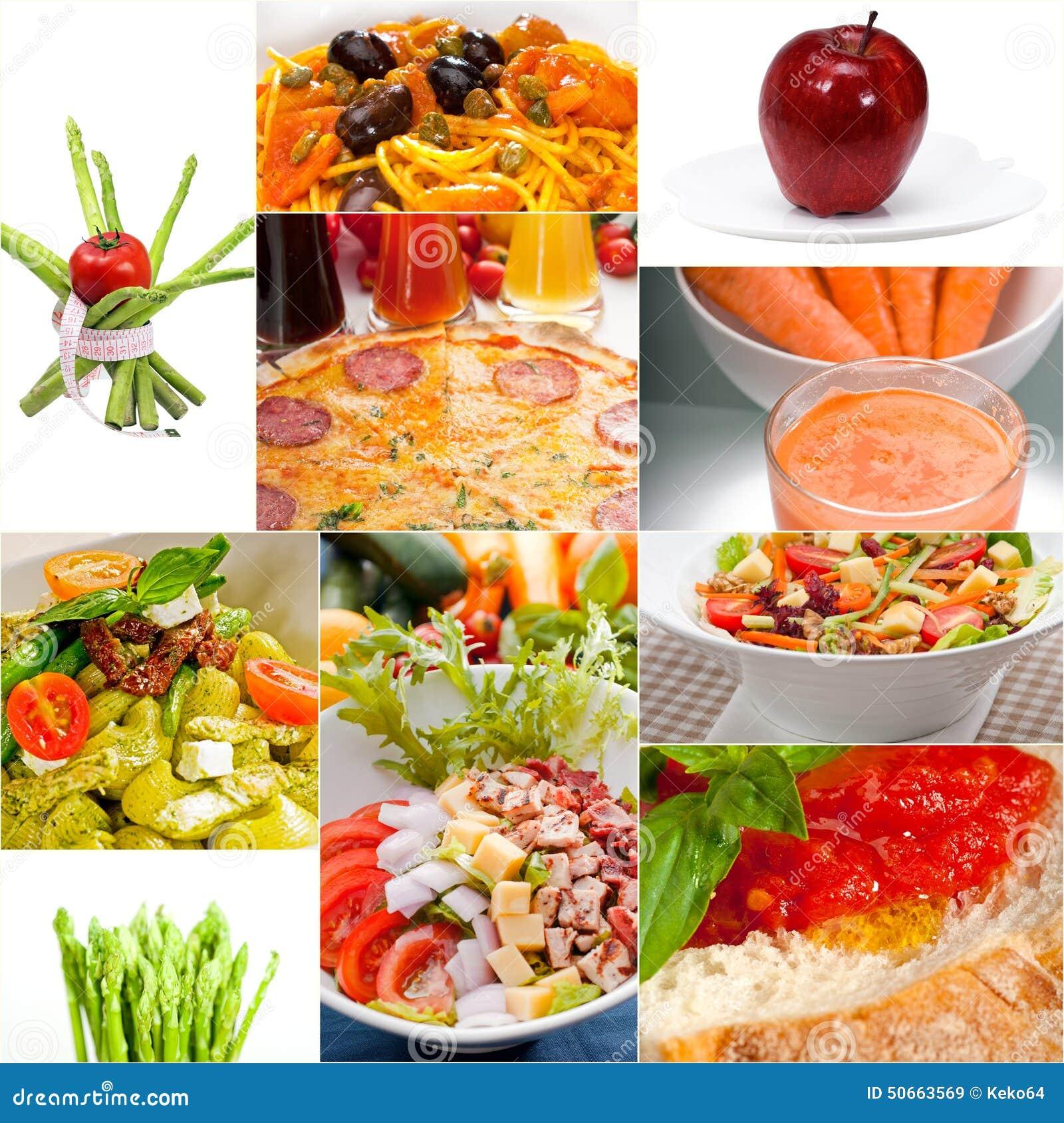 Healthy vegetarian vegan food collage stock photo image for Cuisine vegan