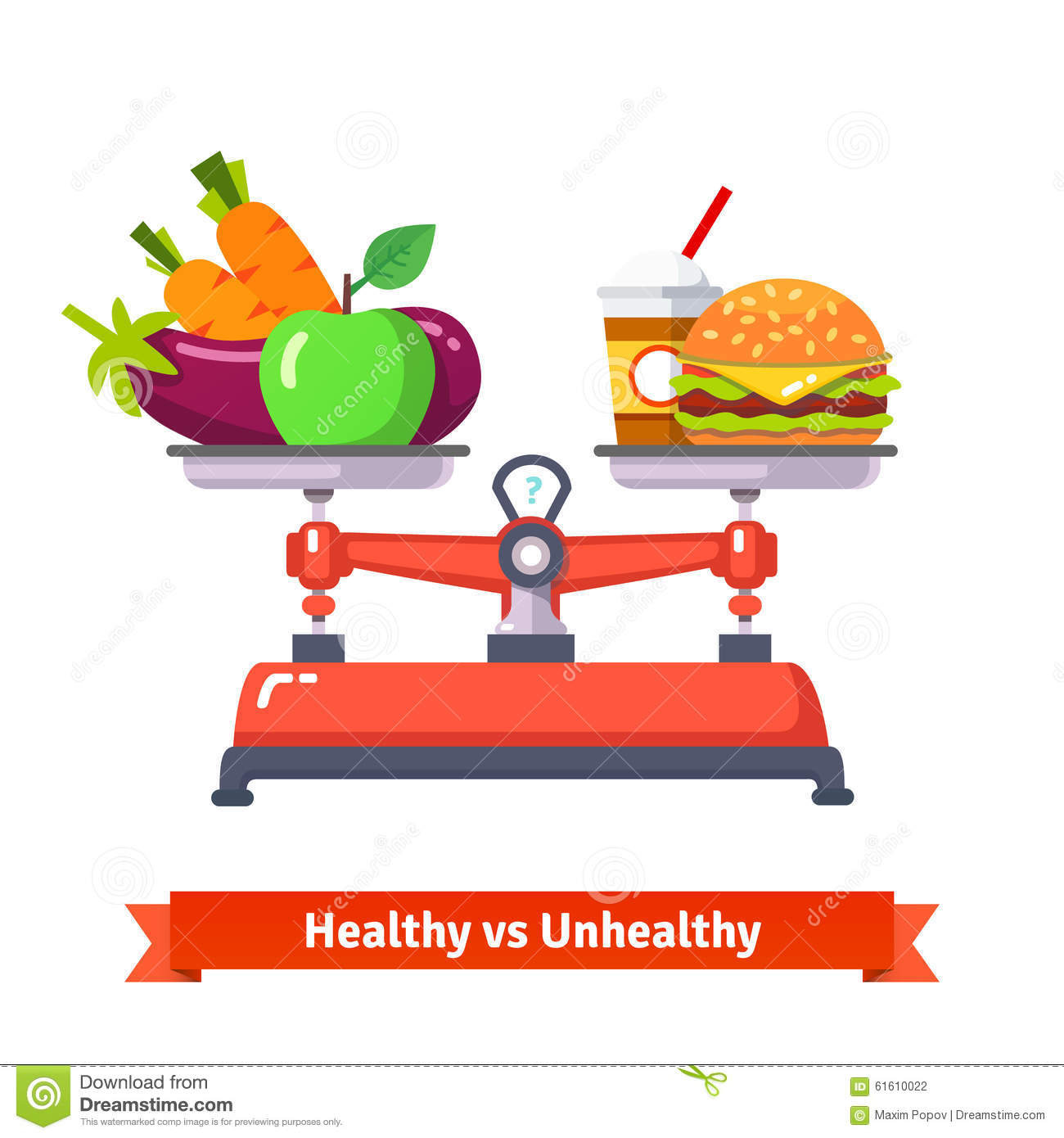 Difference Between Healthy And Unhealthy Food