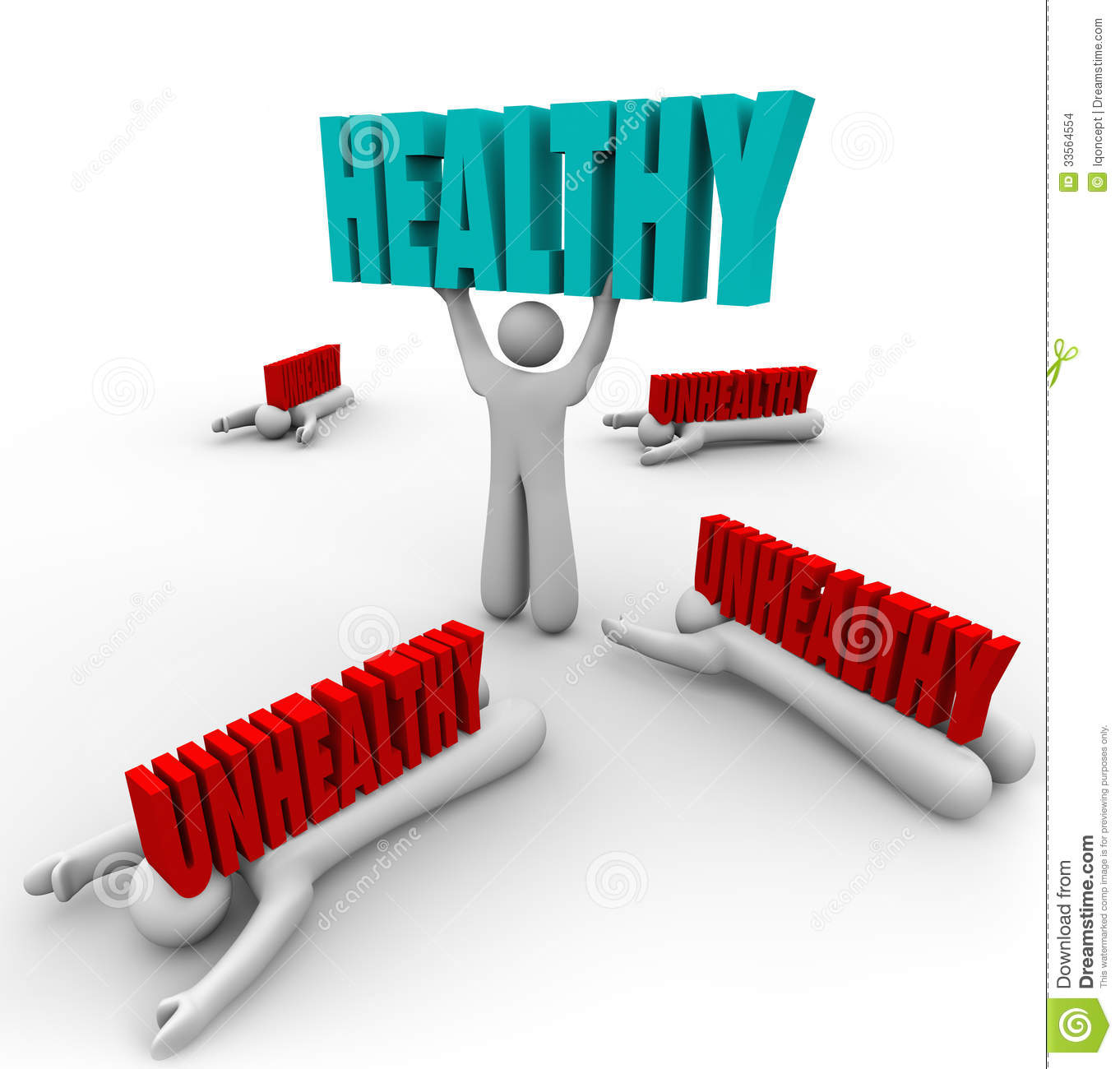 Healthy Vs Unhealthy One Person Good Health Fitness Stock Illustration Illustration Of Healthcare Healthy 33564554