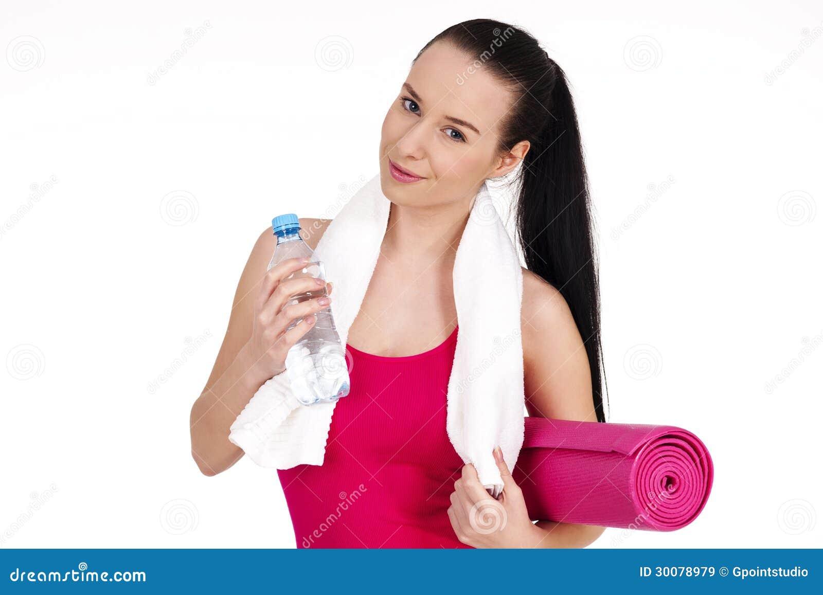 women bottled water workout related keywords women