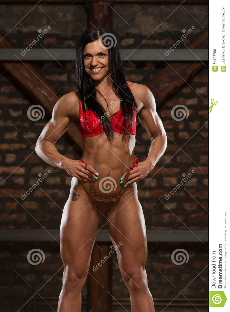 Body building woman sexy