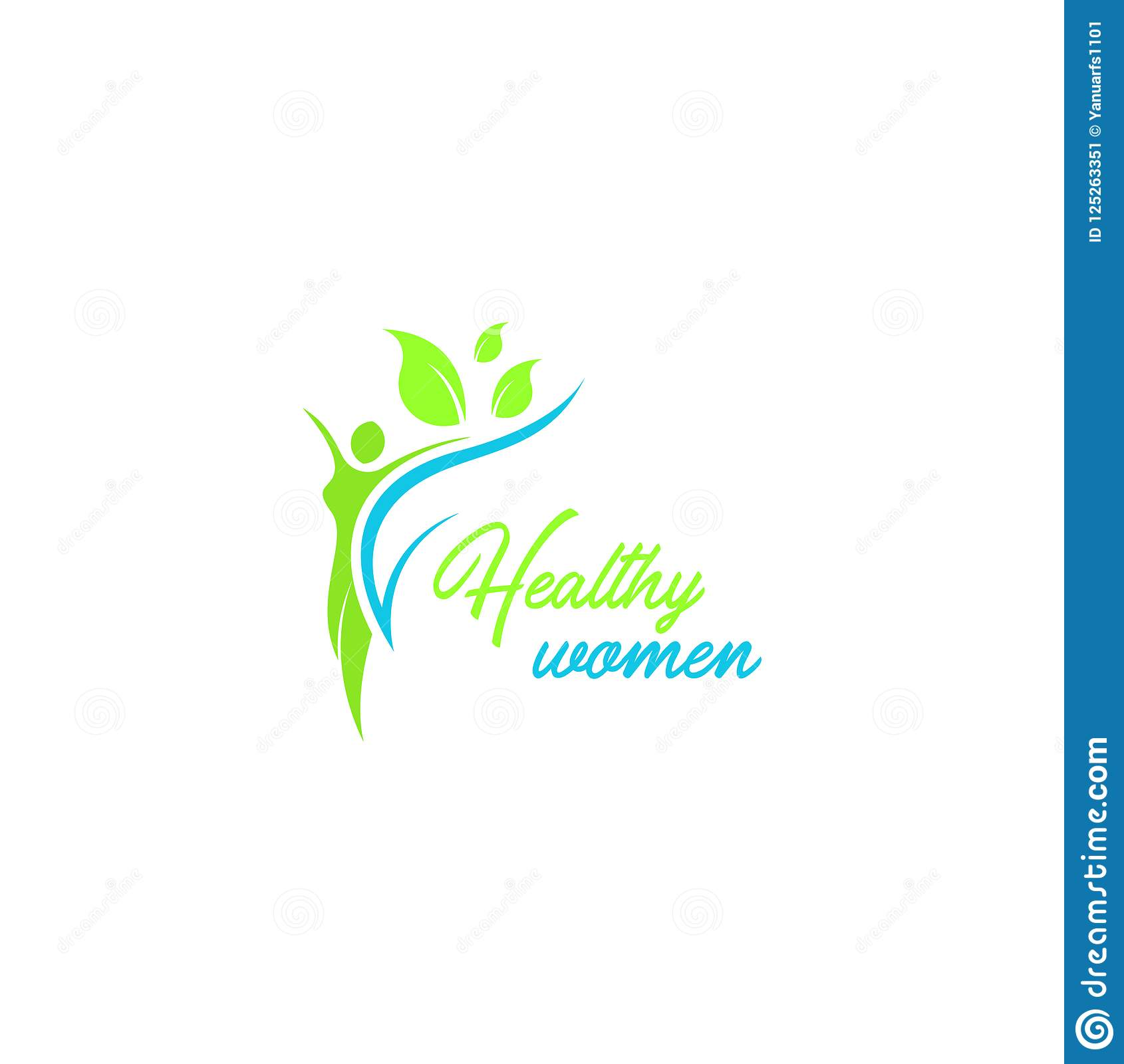 Healthy women logo vector template. Logo template for your business