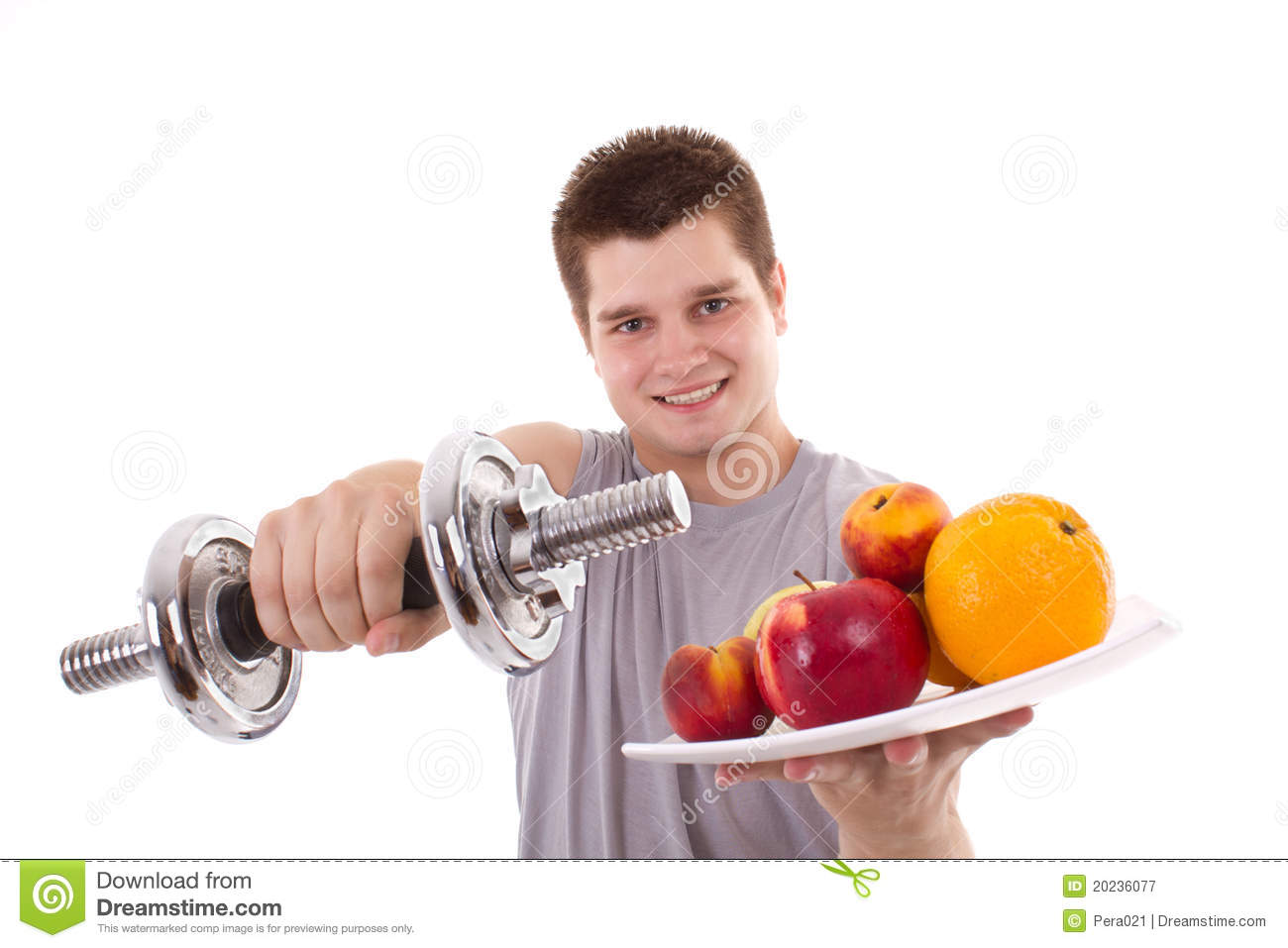 Healthy Young Men Exercise Royalty Free Stock Photography