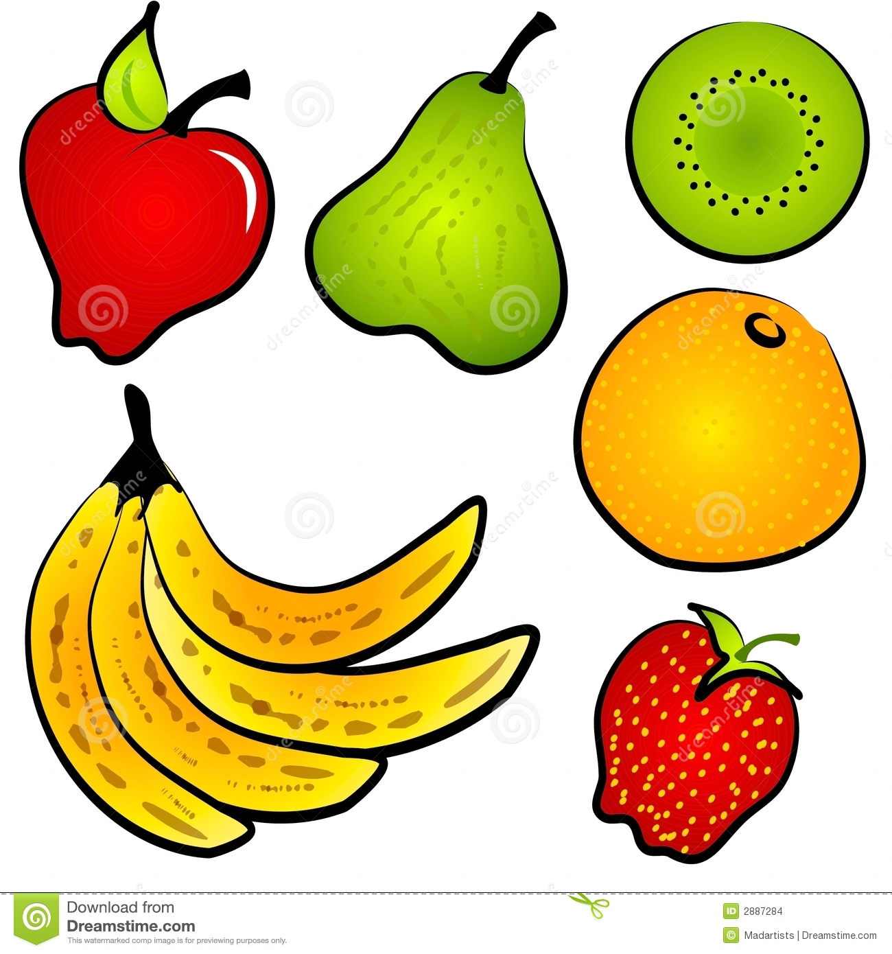 Healty Food Fruit Clip Art Stock Illustration